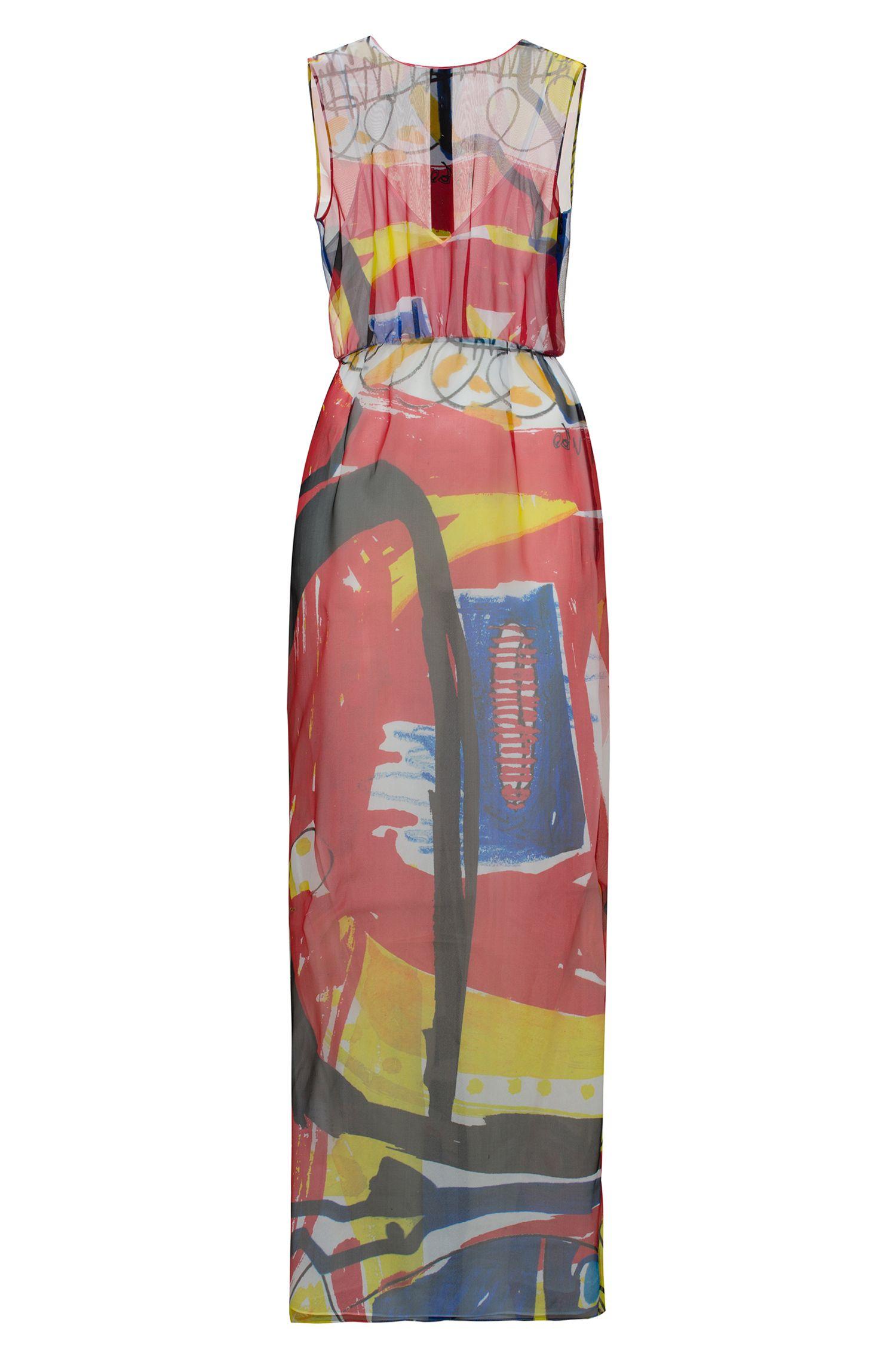 Printed Silk Dress | Koluni