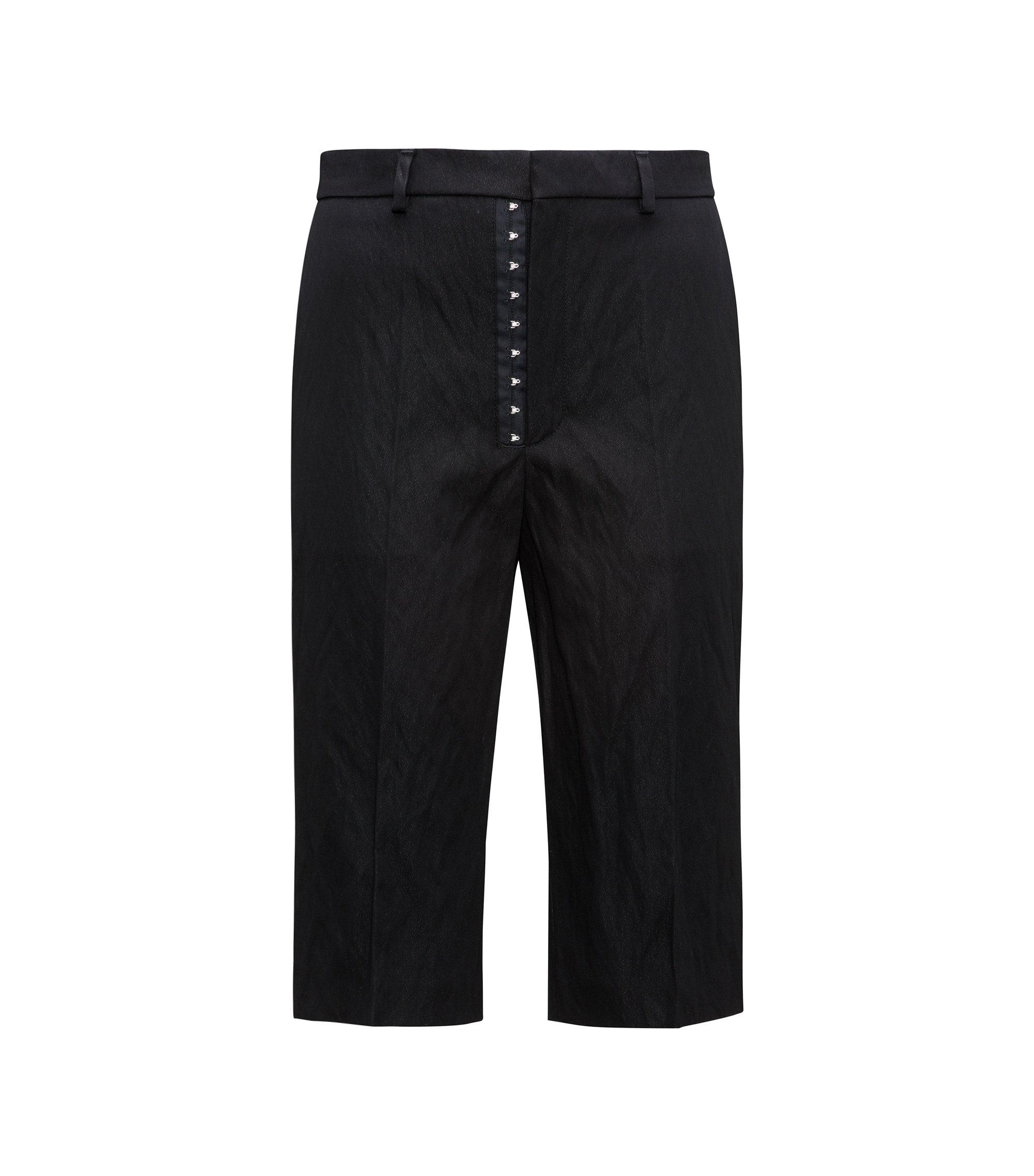 Cotton Blend Cropped Pant   Heralia FS, Black