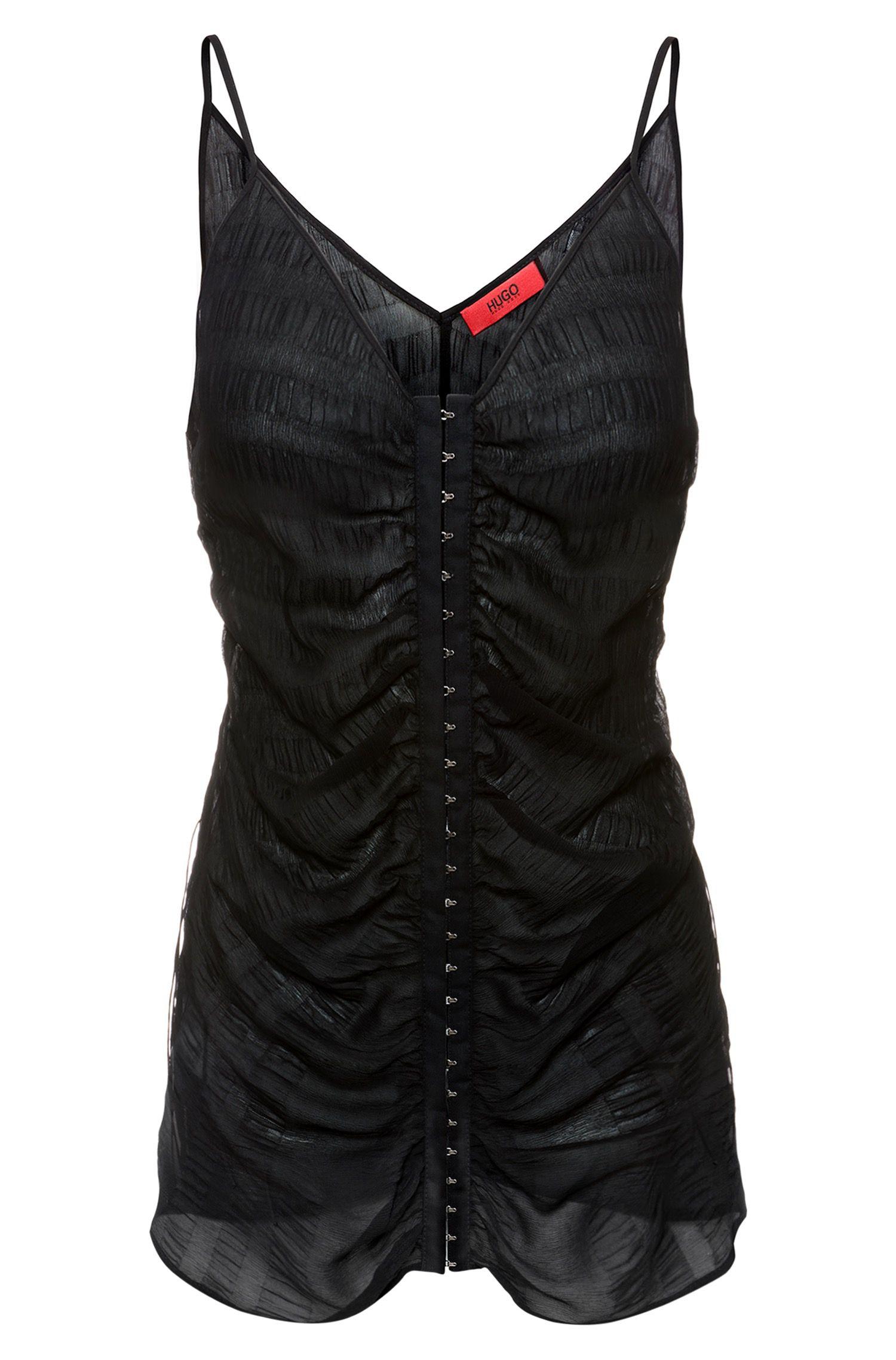 Silk Top | Celesta FS, Black