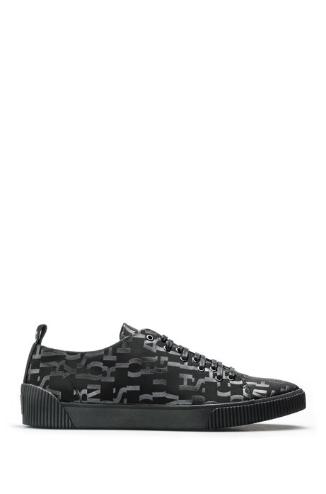 Lace-up trainers with seasonal-print uppers HUGO BOSS 0h7umcy
