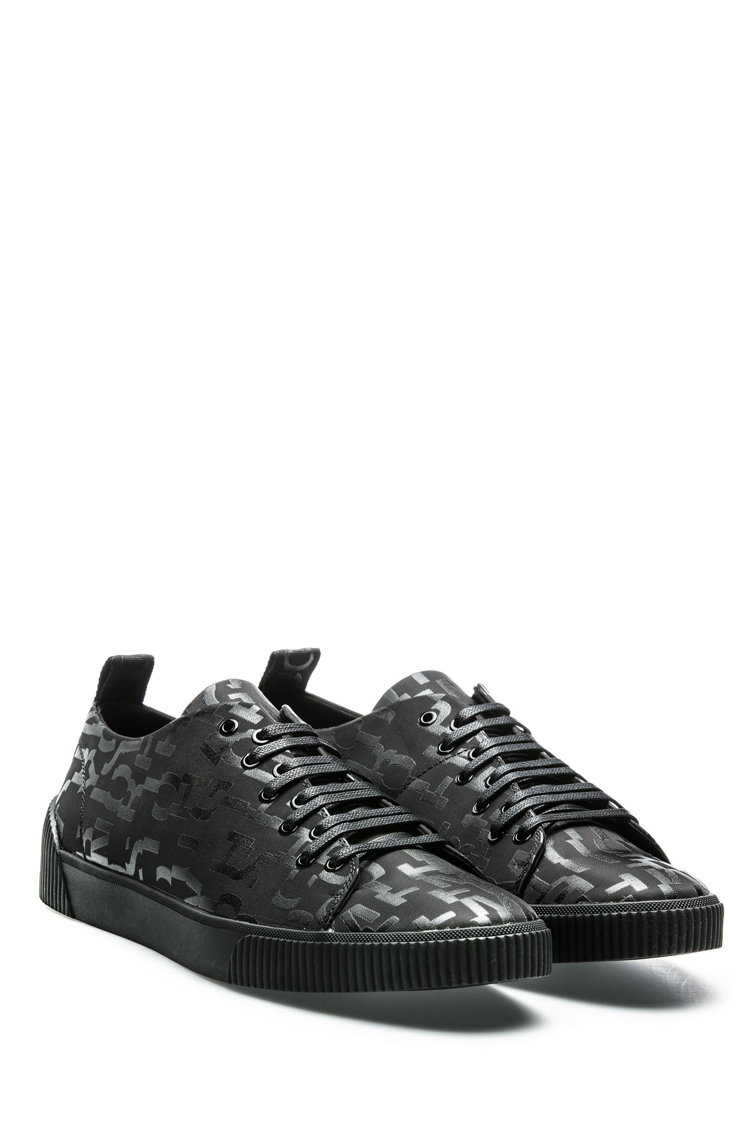 Lace-up trainers with seasonal-print uppers HUGO BOSS