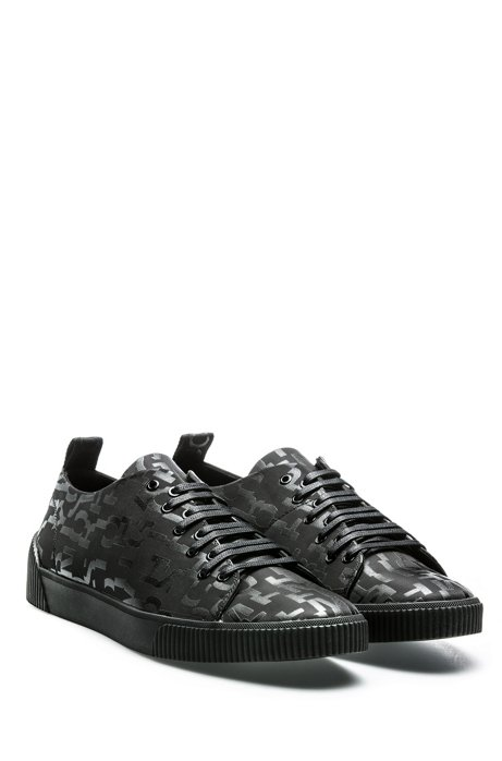Lace-up trainers with seasonal-print uppers HUGO BOSS DM42t9