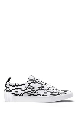 Outlet Manchester HUGO BOSS Hugo Boss Lace-up sneakers seasonal-print uppers 11 Black 2018 Newest Online New Fashion Style Of Clearance Outlet USfXEA