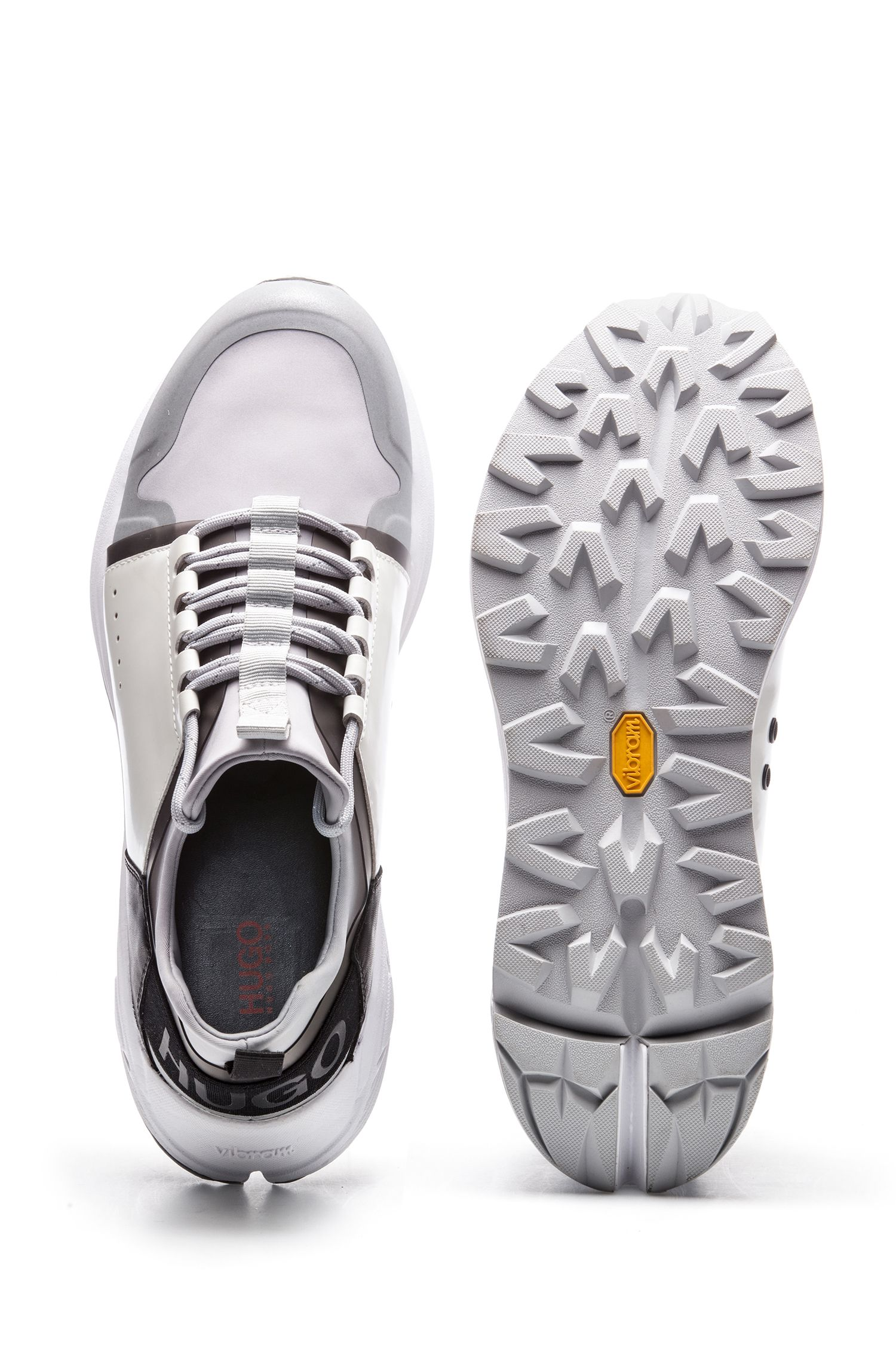 Mixed-material sneakers with Vibram sole