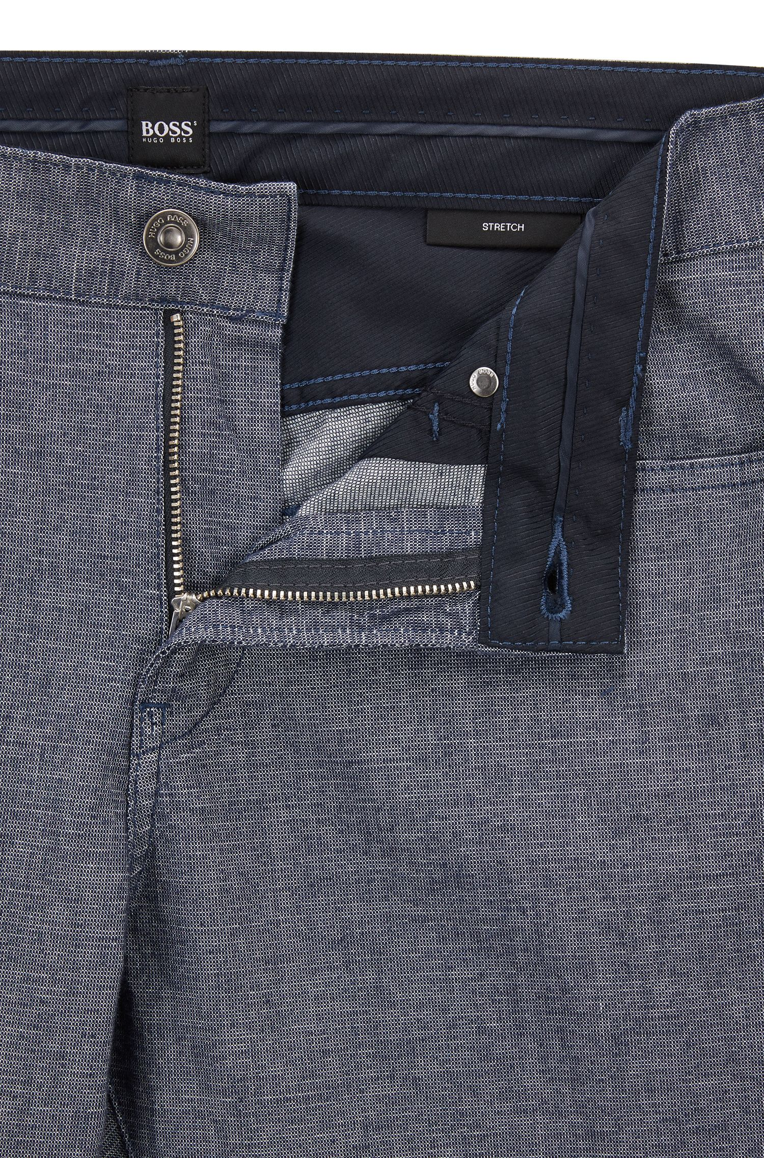 Slim-fit jeans in two-colored stretch denim