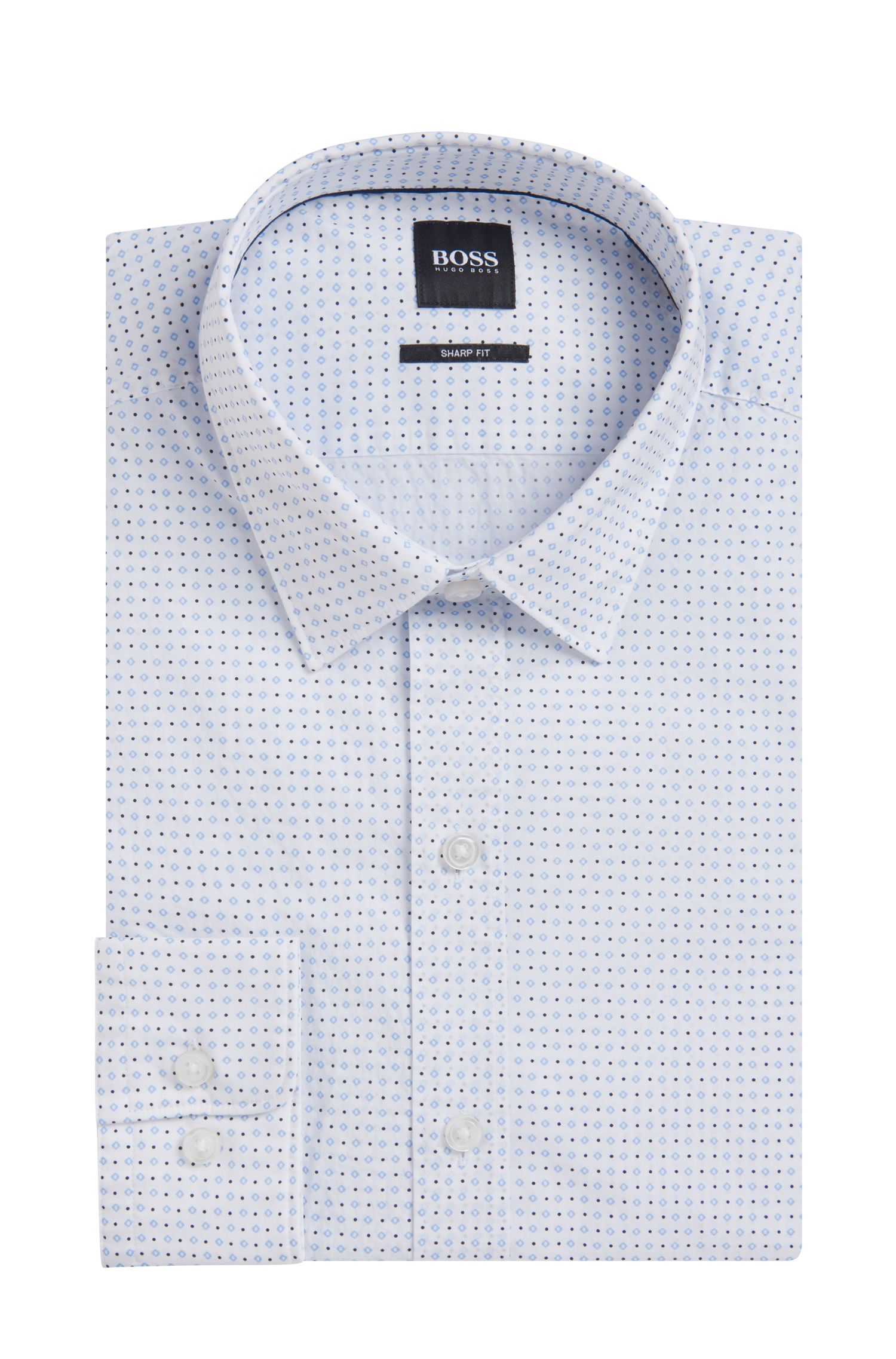 Soft Cotton Shirt, Sharp Fit | Robbie, Light Blue