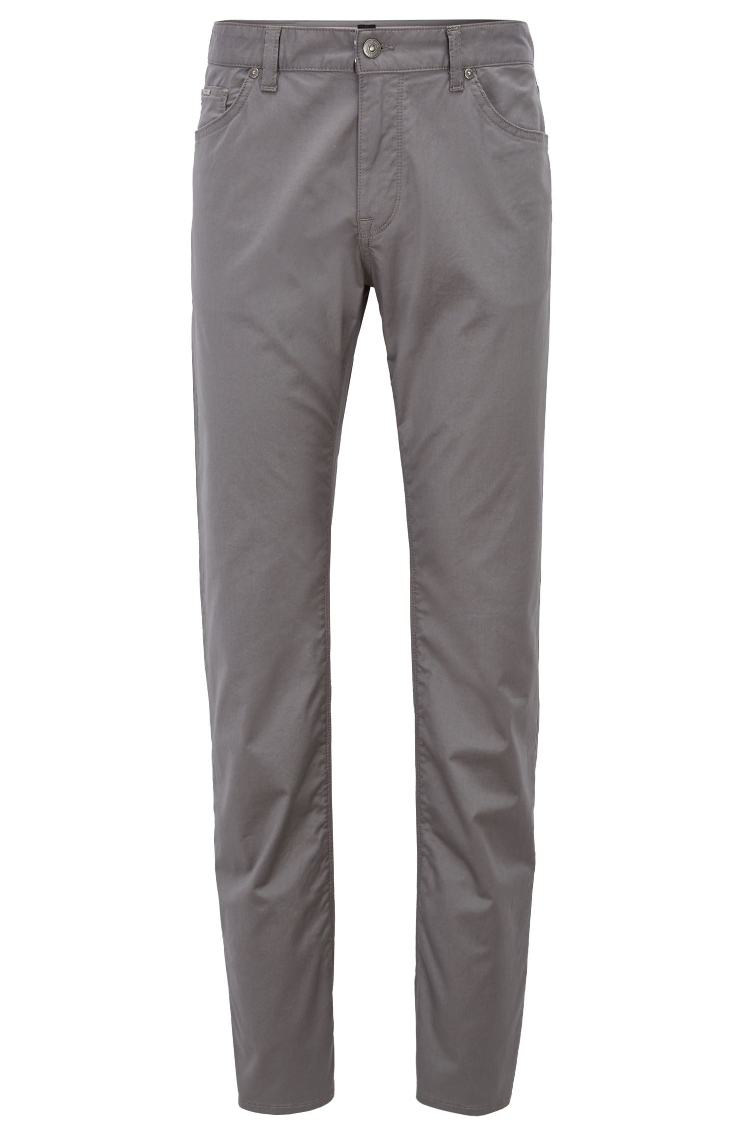 Regular-fit jeans in satin-finish stretch cotton