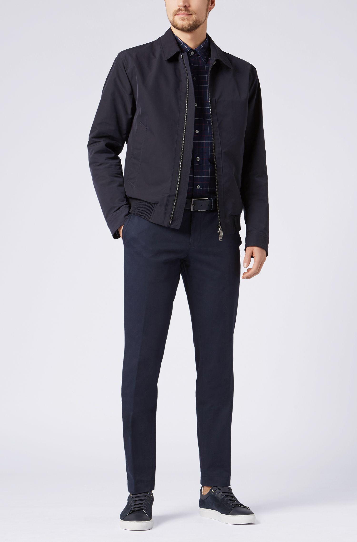 Plaid Cotton Sport Shirt, Sharp Fit    Robbie