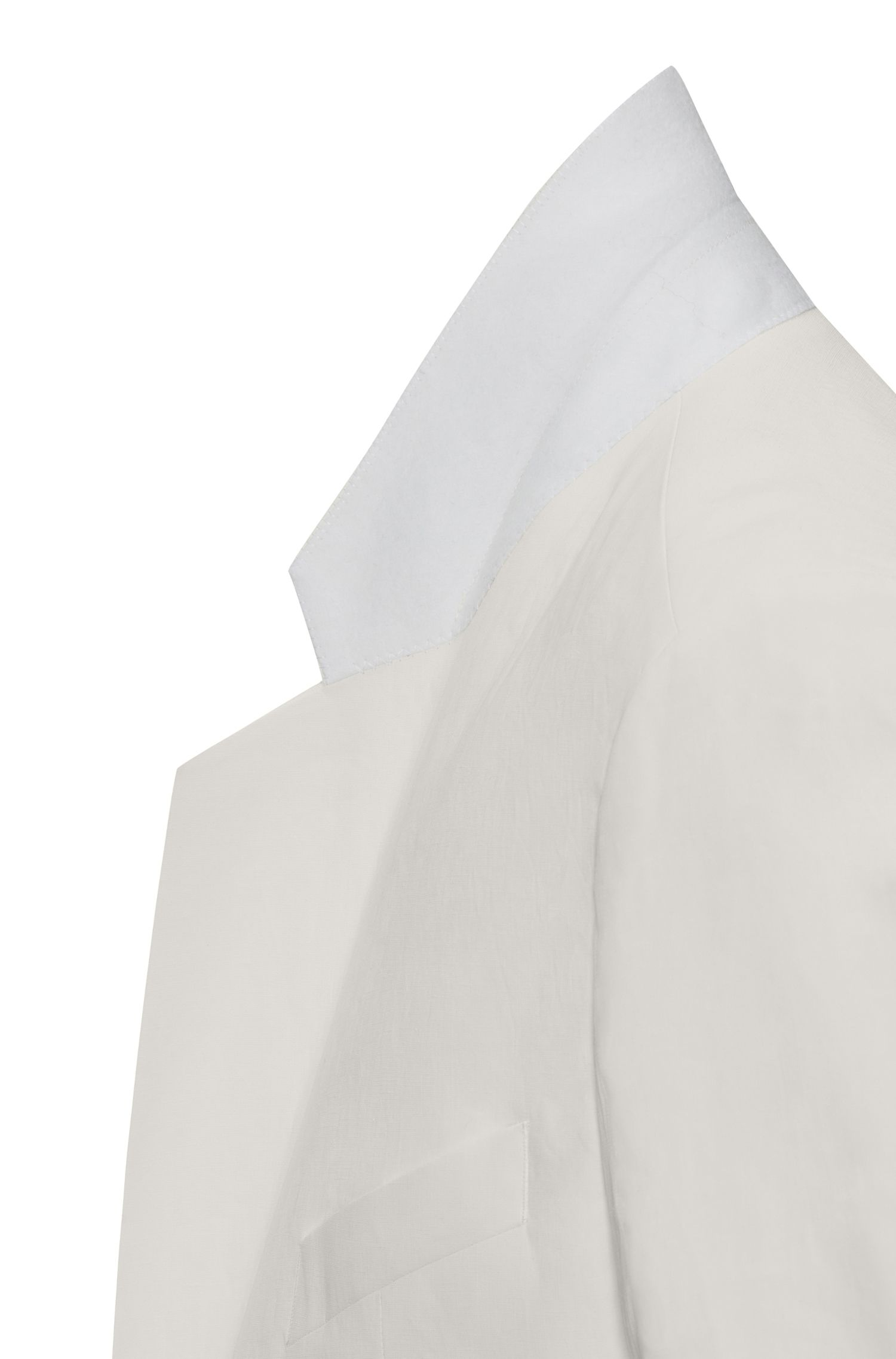 Linen Double-Breasted Sport Coat, Oversize Fit | Ureial FS, Natural