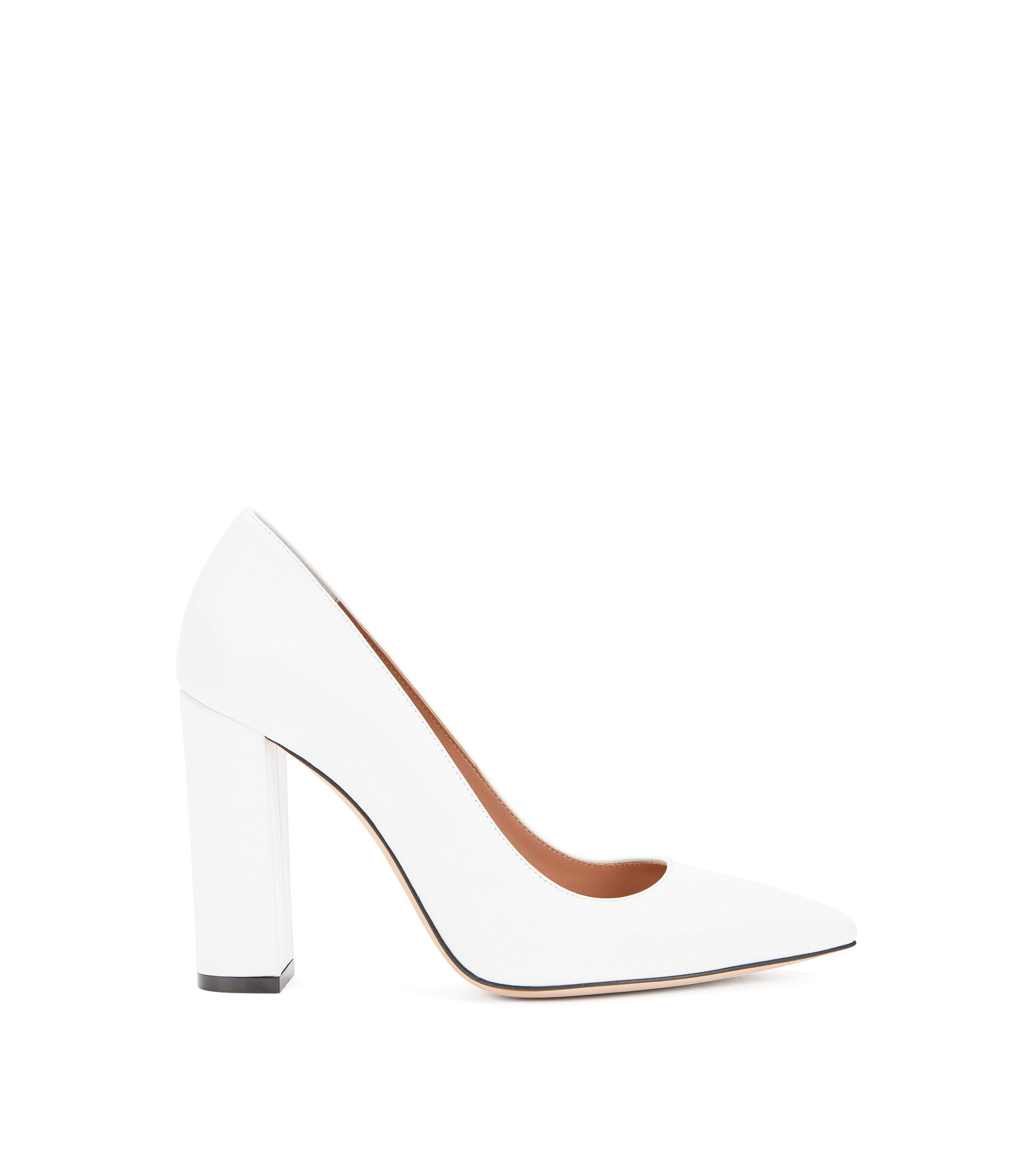Gallery Collection Italian Leather Pump | Greta Pump GC, White