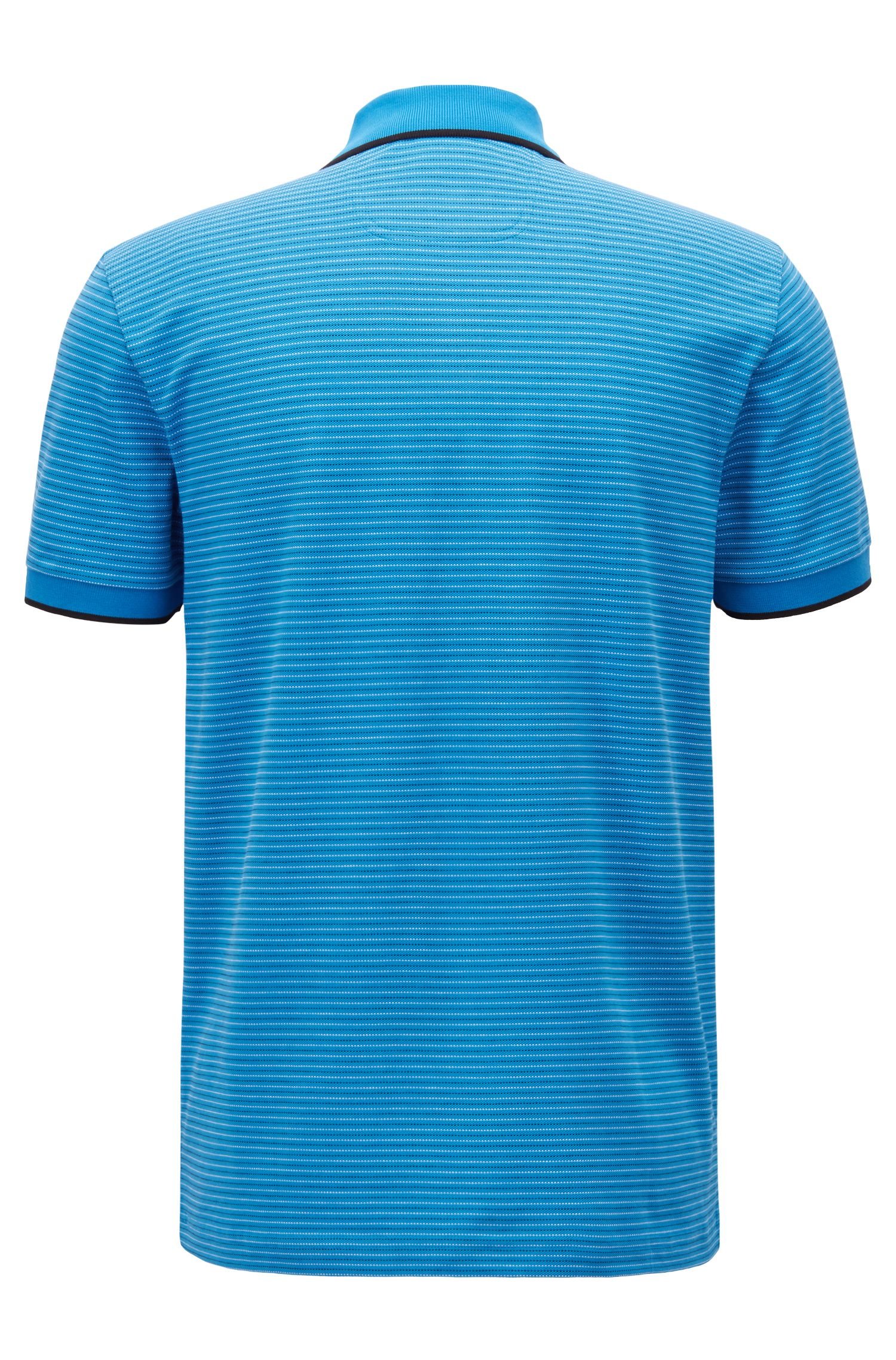 Stretch-cotton polo shirt with micro-dot jacquard