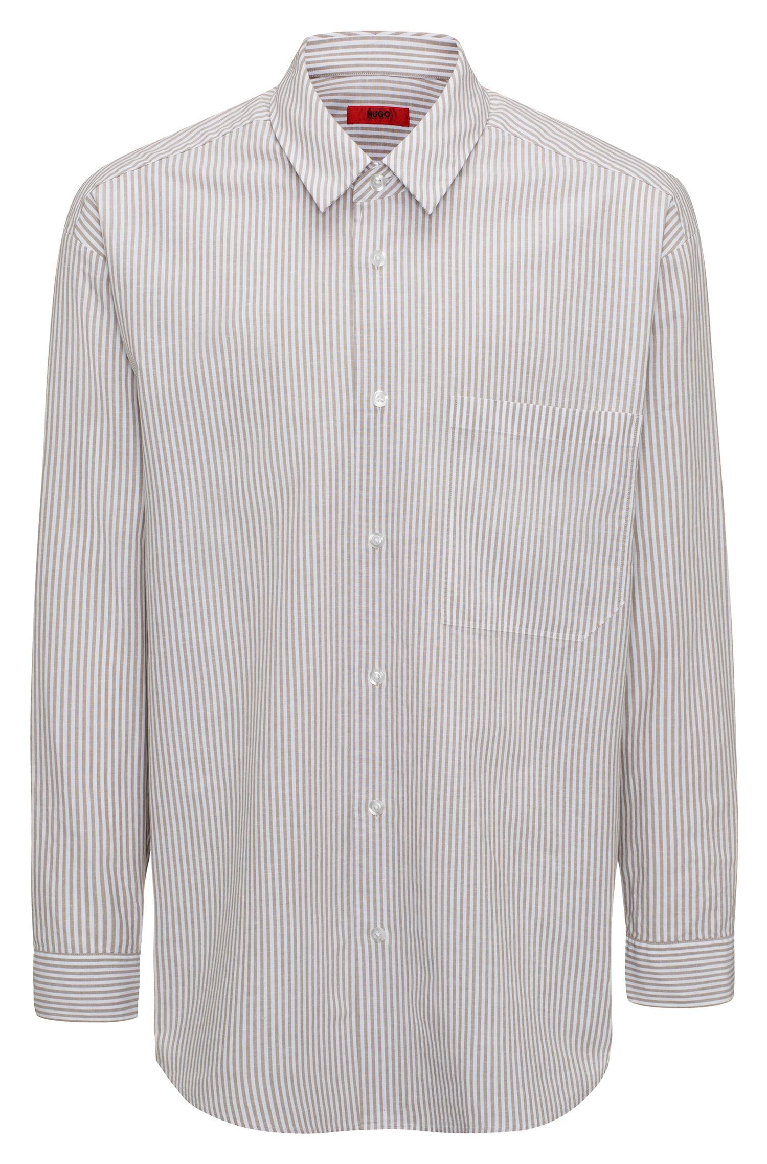 Runway Edition Linen Cotton Sport Shirt, Oversized Fit | Erilio