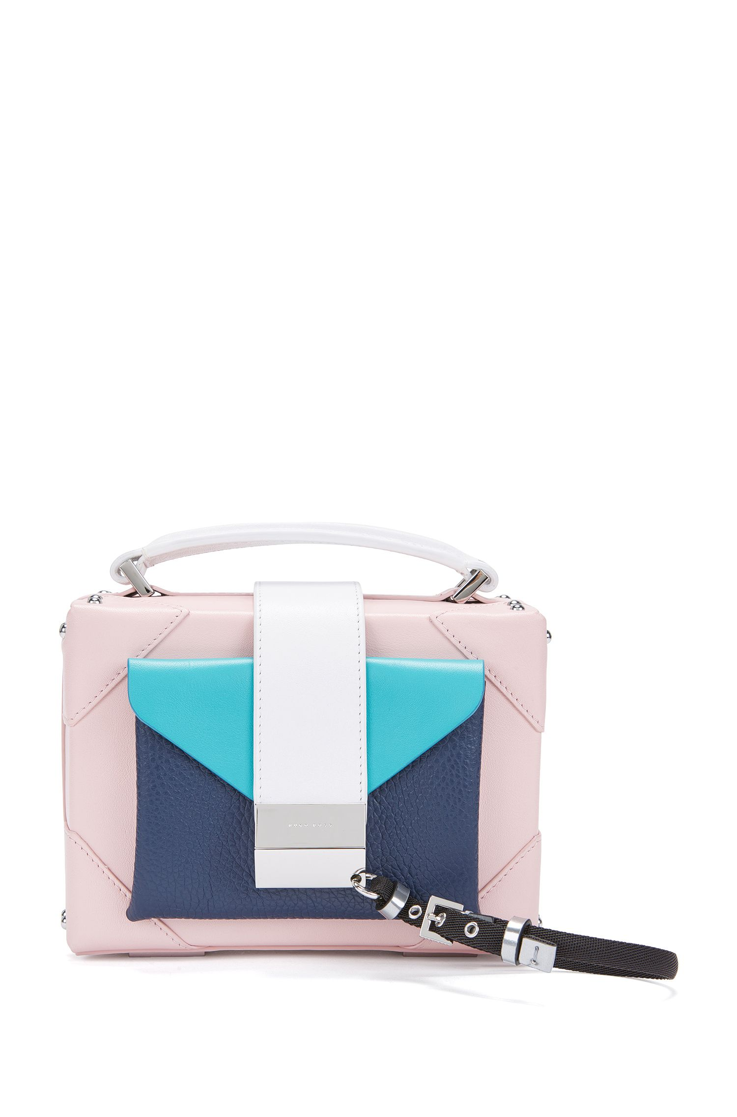 Gallery Collection Leather Shoulder Bag | Lexi Sh. Bag GC , light pink