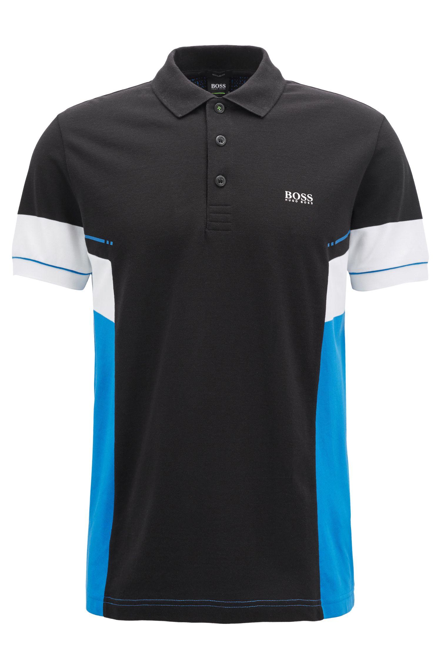 Colorblock polo shirt in Pima cotton