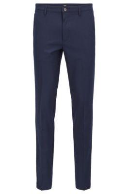 Slim Fit Chinos In High Twist Mercerized Stretch Fabric by Boss
