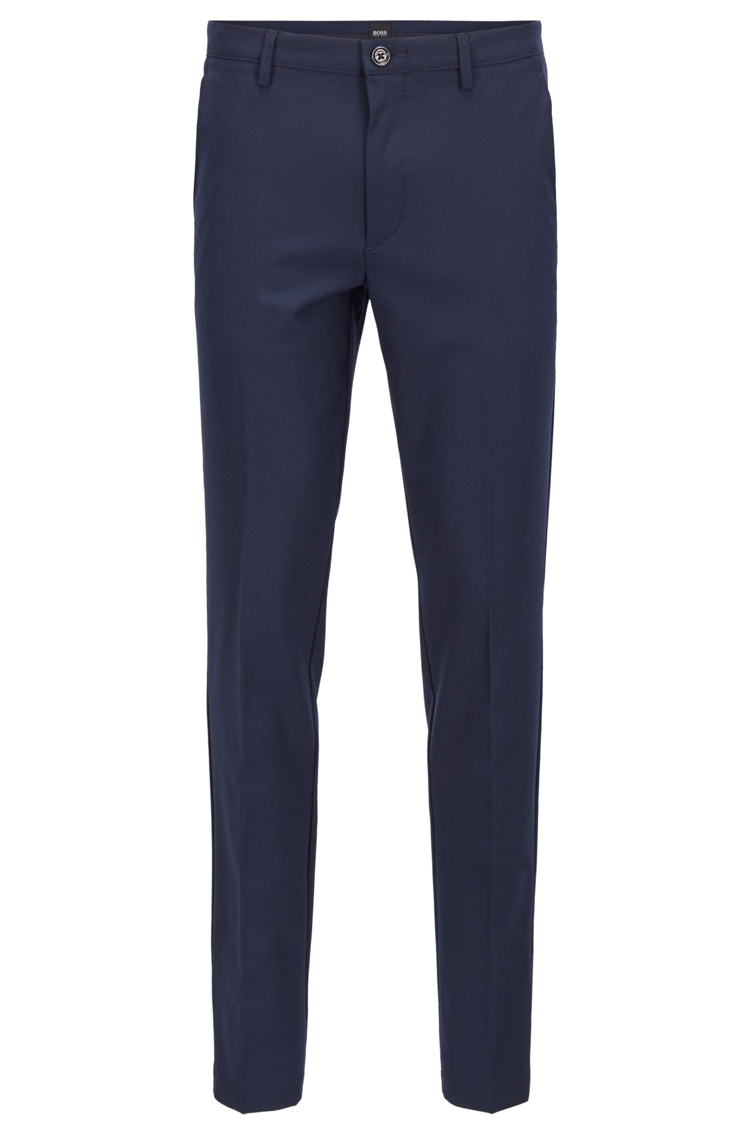 Slim-fit chinos in high-twist mercerized stretch fabric