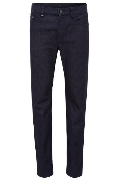 Slim-fit jeans in washed stretch denim BOSS Cheap Sale Footlocker 8Q7iF