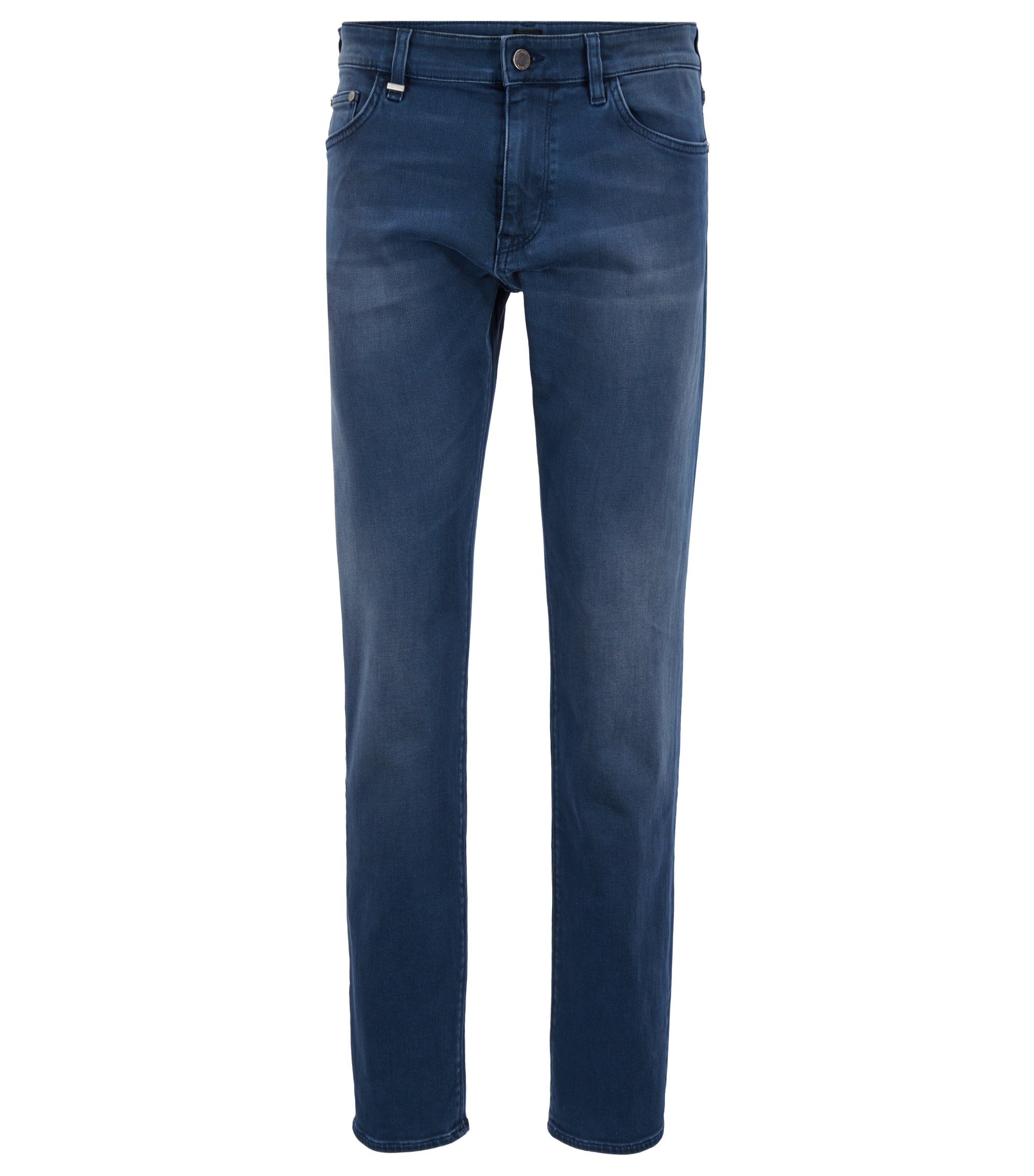 Regular-fit jeans in sulfur-dyed stretch denim, Blue