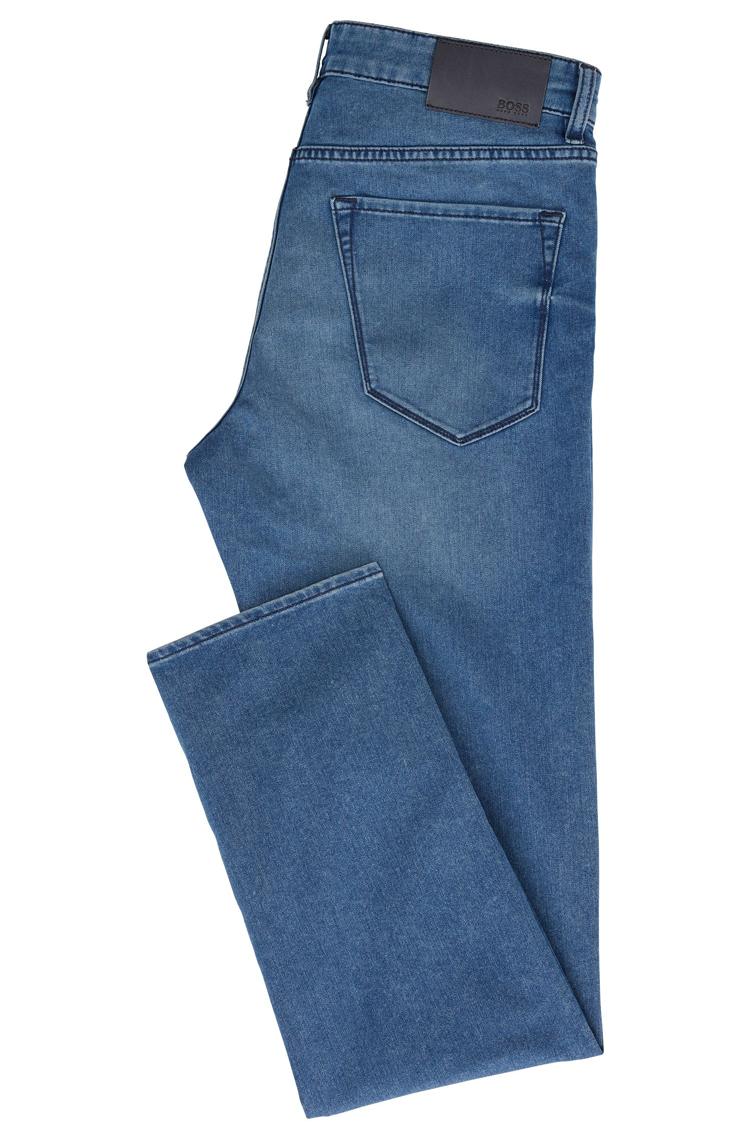 Regular-fit jeans in extra-soft Italian denim, Blue