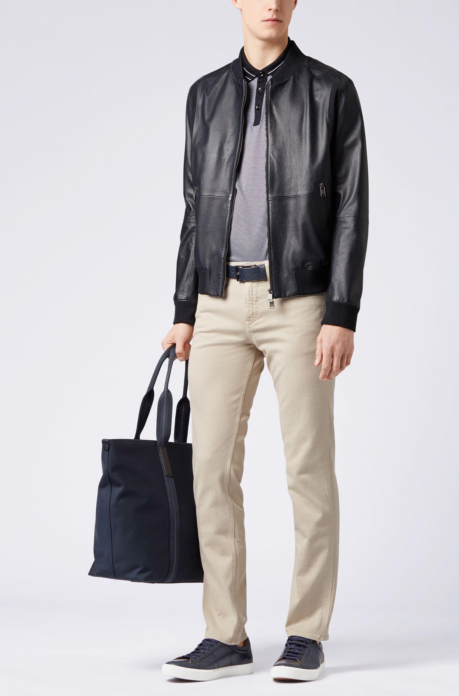 Slim-fit jeans in colored stretch denim, Light Beige
