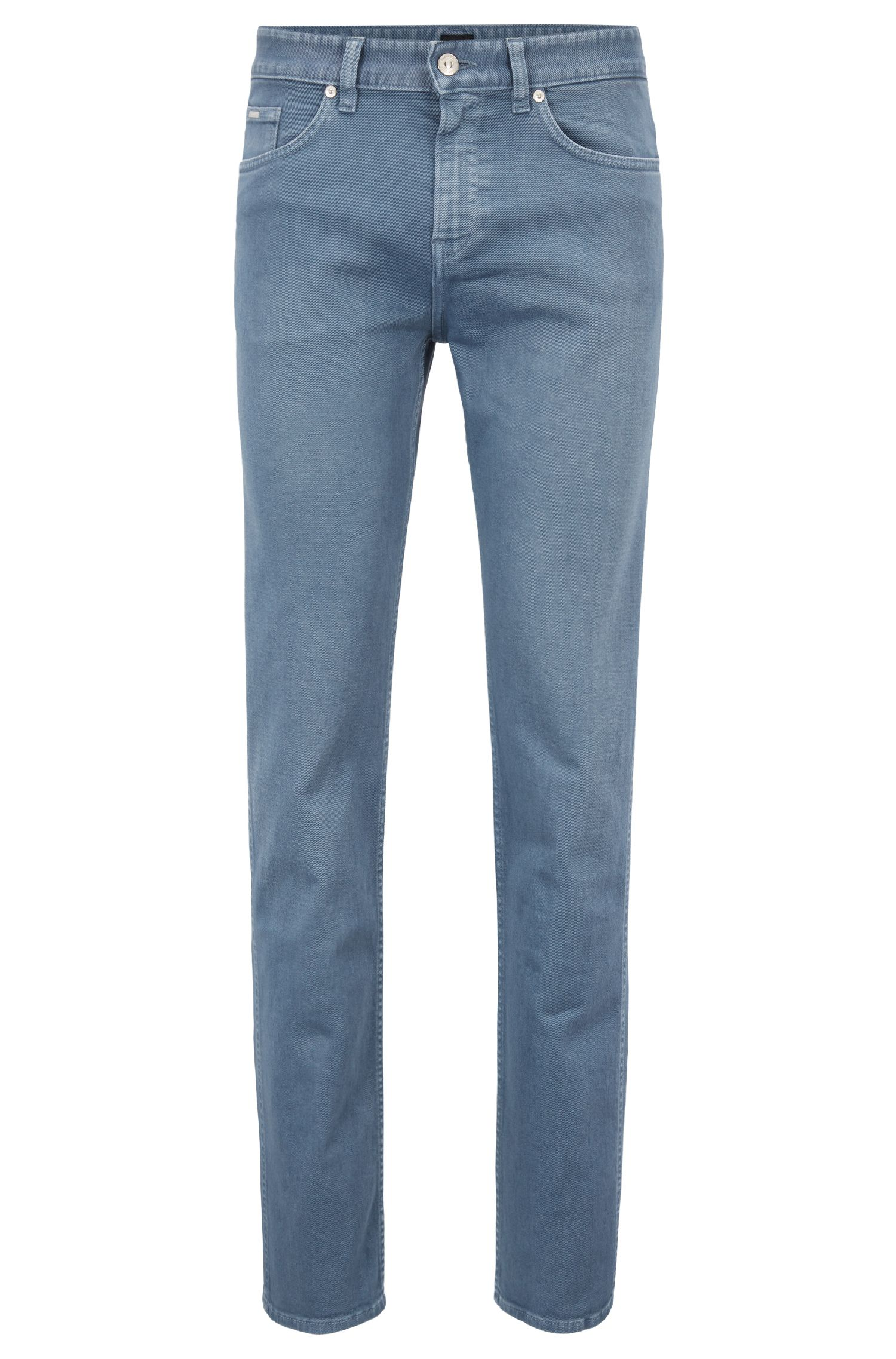 Slim-fit jeans in colored stretch denim, Open Blue