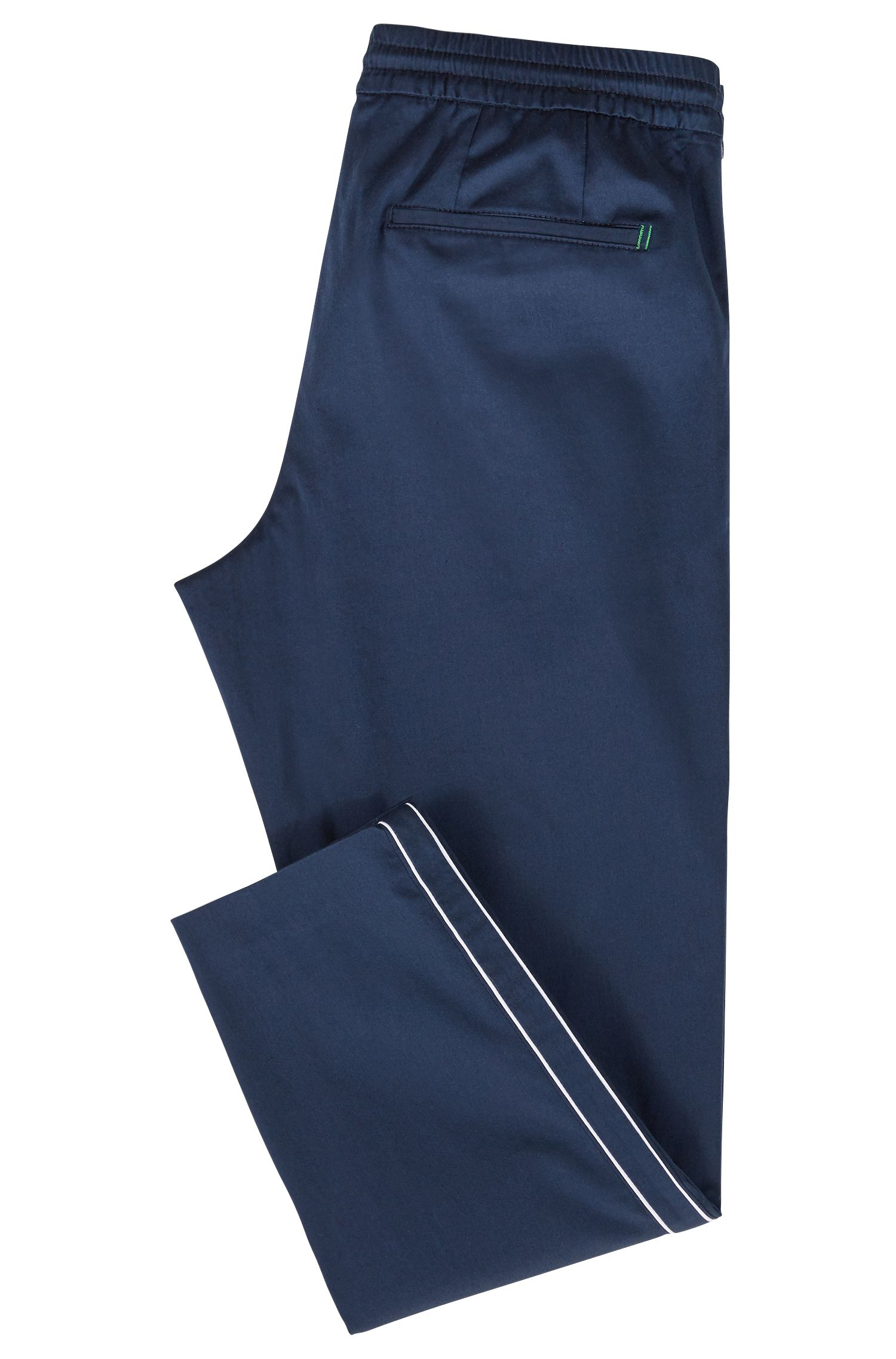 Tapered-fit pants in a stretch-cotton blend