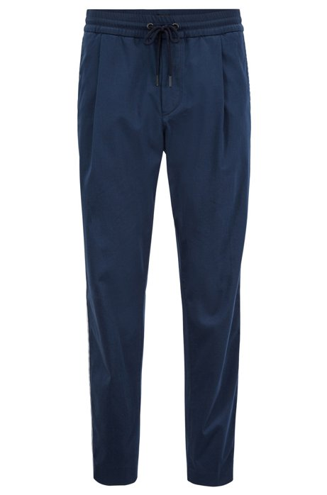Tapered-fit trousers in a stretch-cotton blend BOSS FBtif
