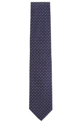 Geometric patterned tie in silk jacquard HUGO BOSS E2cj1E9mXy