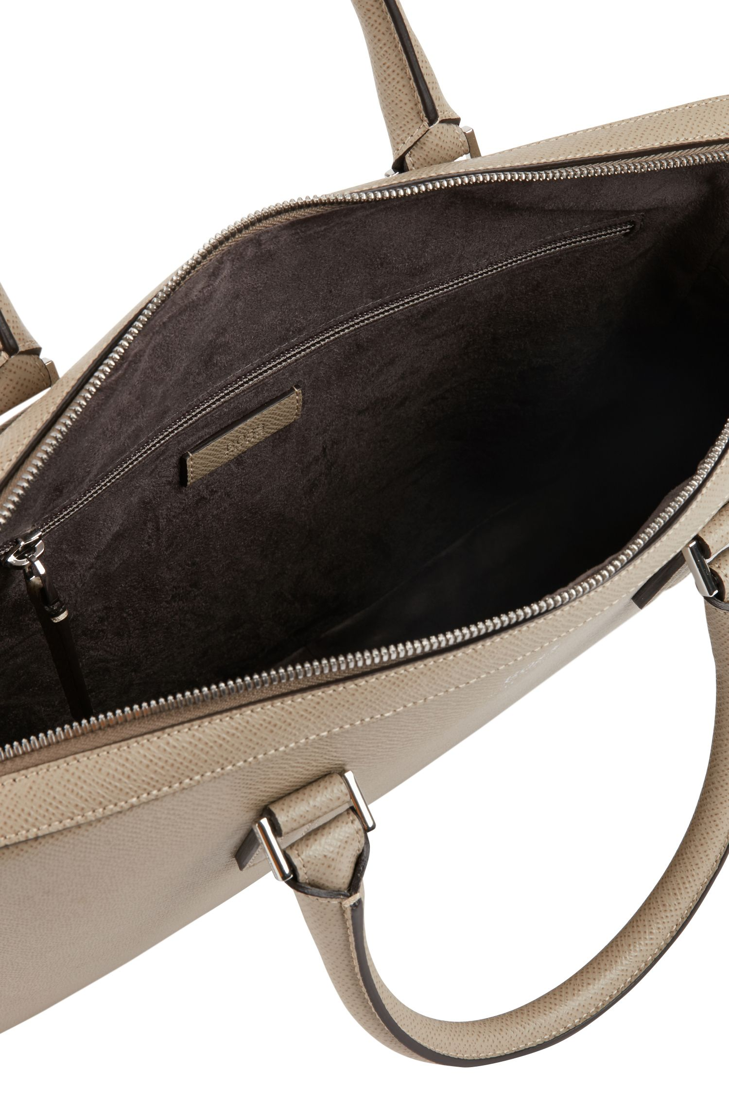 Signature Collection document case in printed palmellato leather, Beige