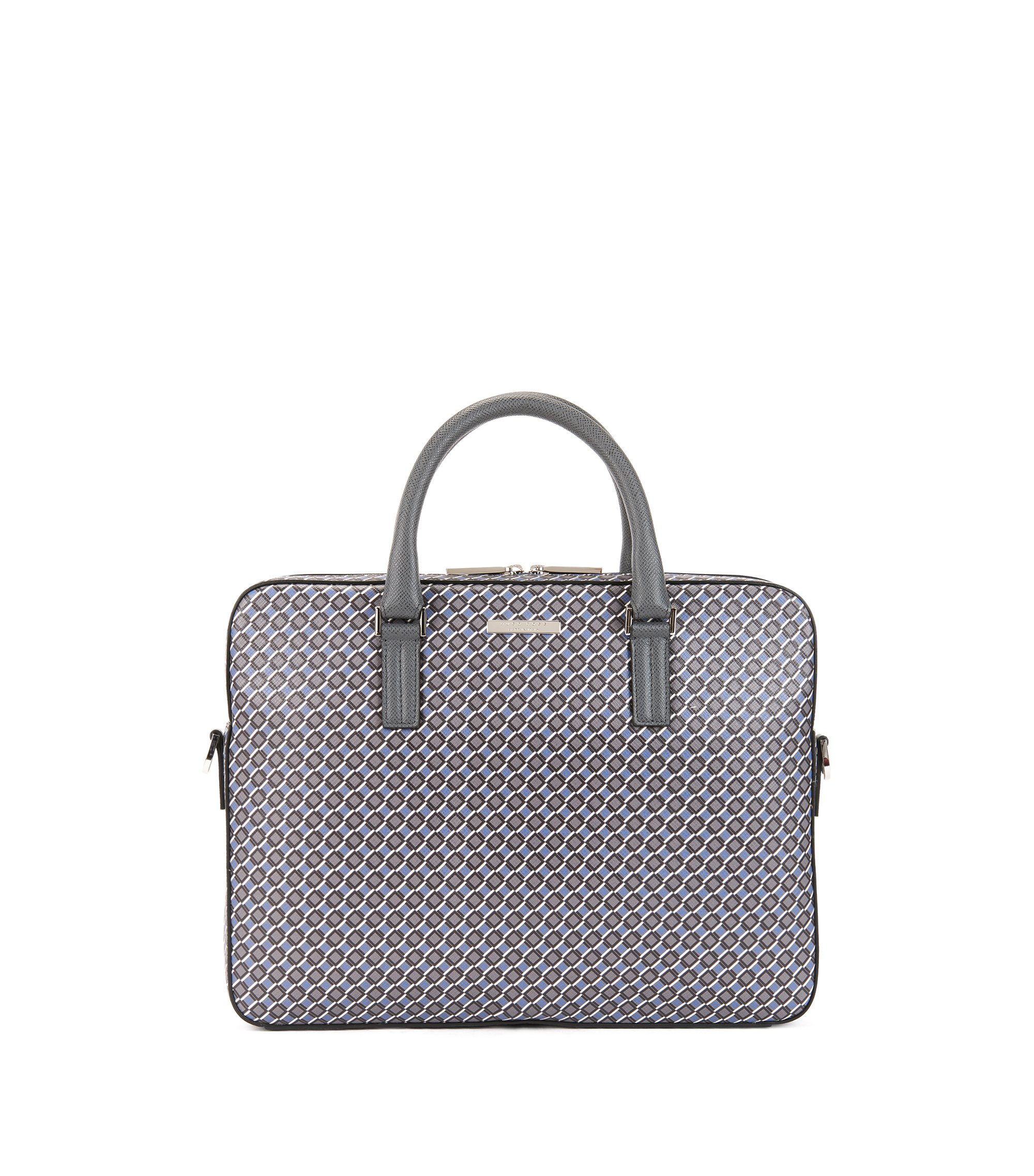 Signature Collection document case in seasonal-printed calfskin leather, Patterned