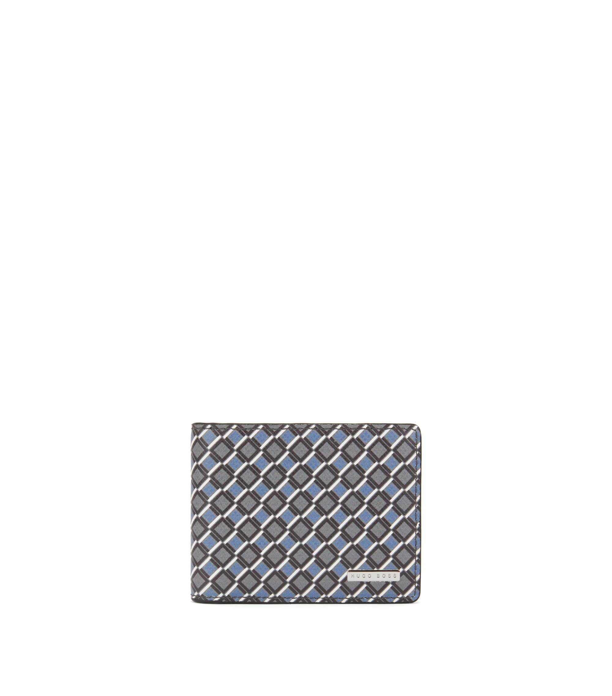Signature Collection billfold wallet in seasonal-printed calf leather, Patterned