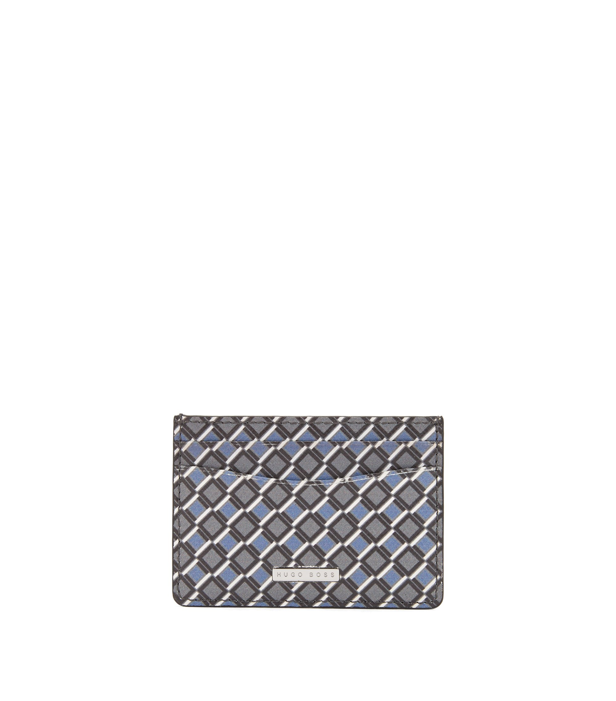 Signature Collection card holder in printed calf leather, Patterned