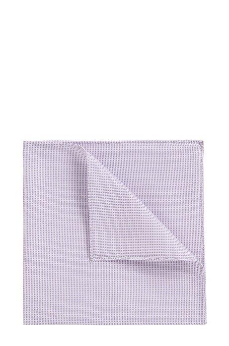 Silk pocket square with rolled hem BOSS Wvpfu1ZLIL