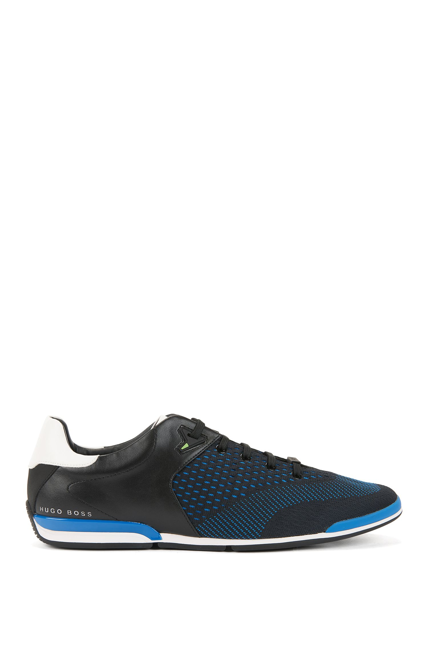 Low-profile sneakers with jacquard-knit uppers, Open Blue
