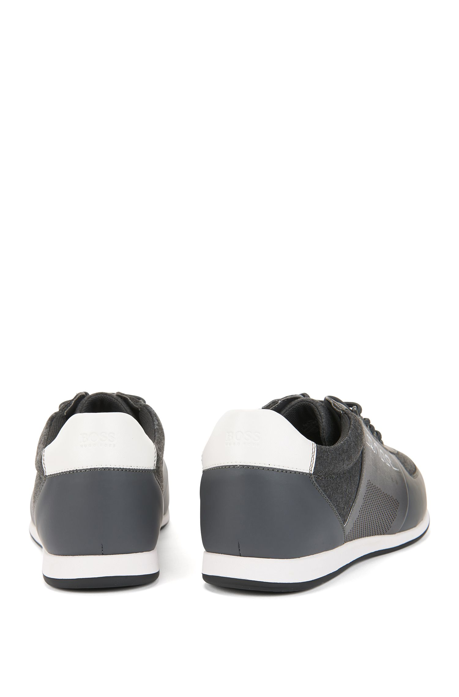 Low-profile sneakers in neoprene and technical fabric