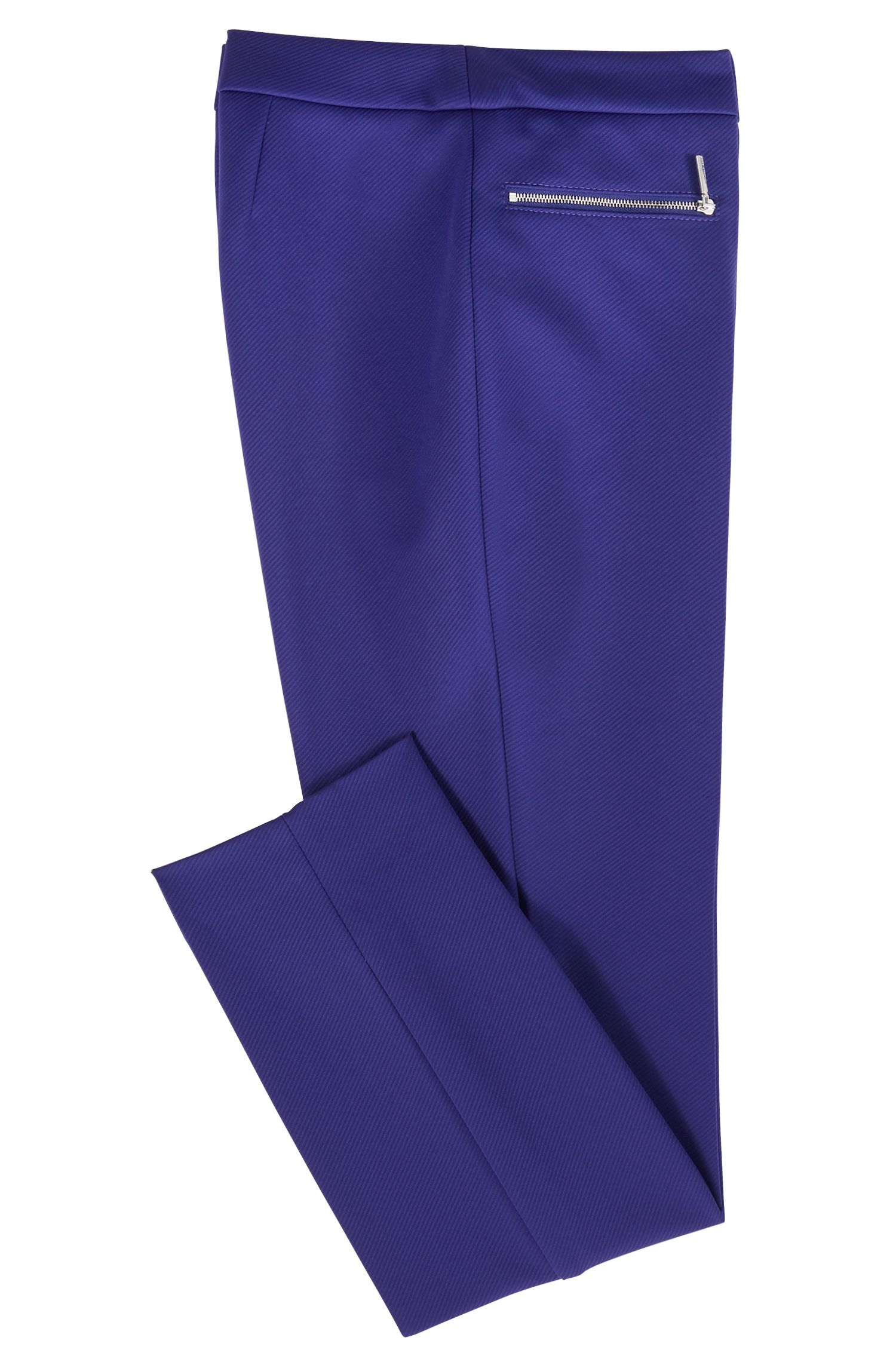 Extra-slim-fit cropped pants in stretch twill