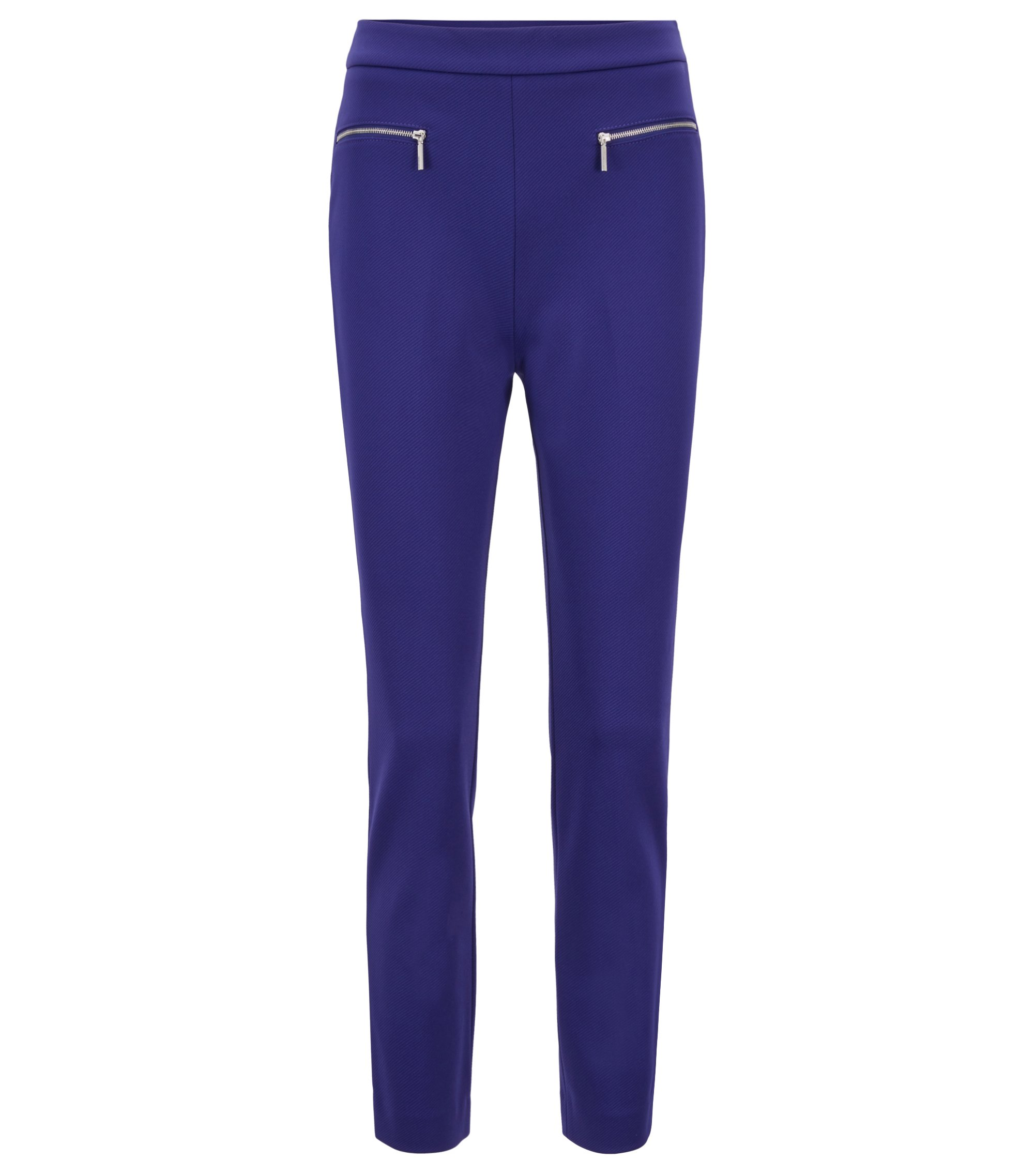 Extra-slim-fit cropped pants in stretch twill, Open Purple