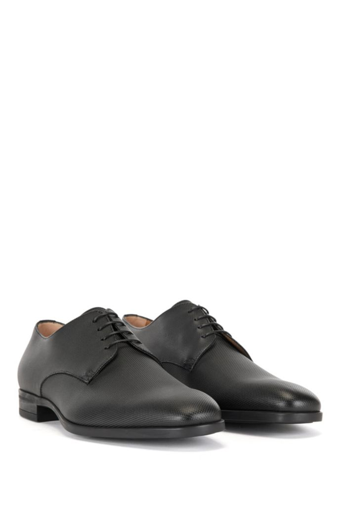 Italian-made Derby shoes in embossed calf leather