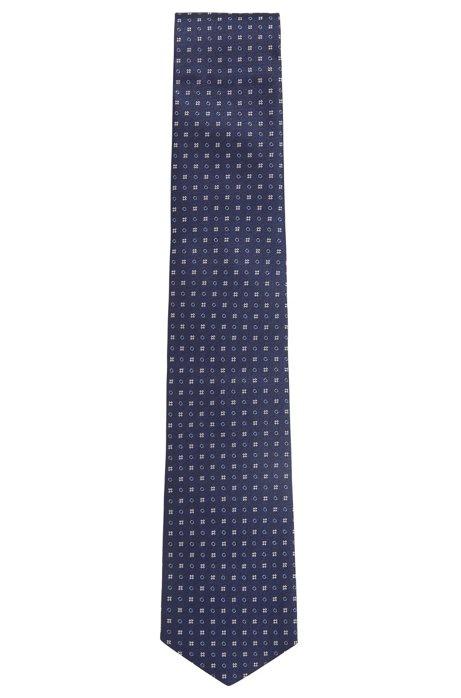 Italian-made patterned tie in water-repellent silk BOSS P2wkQDuKMs