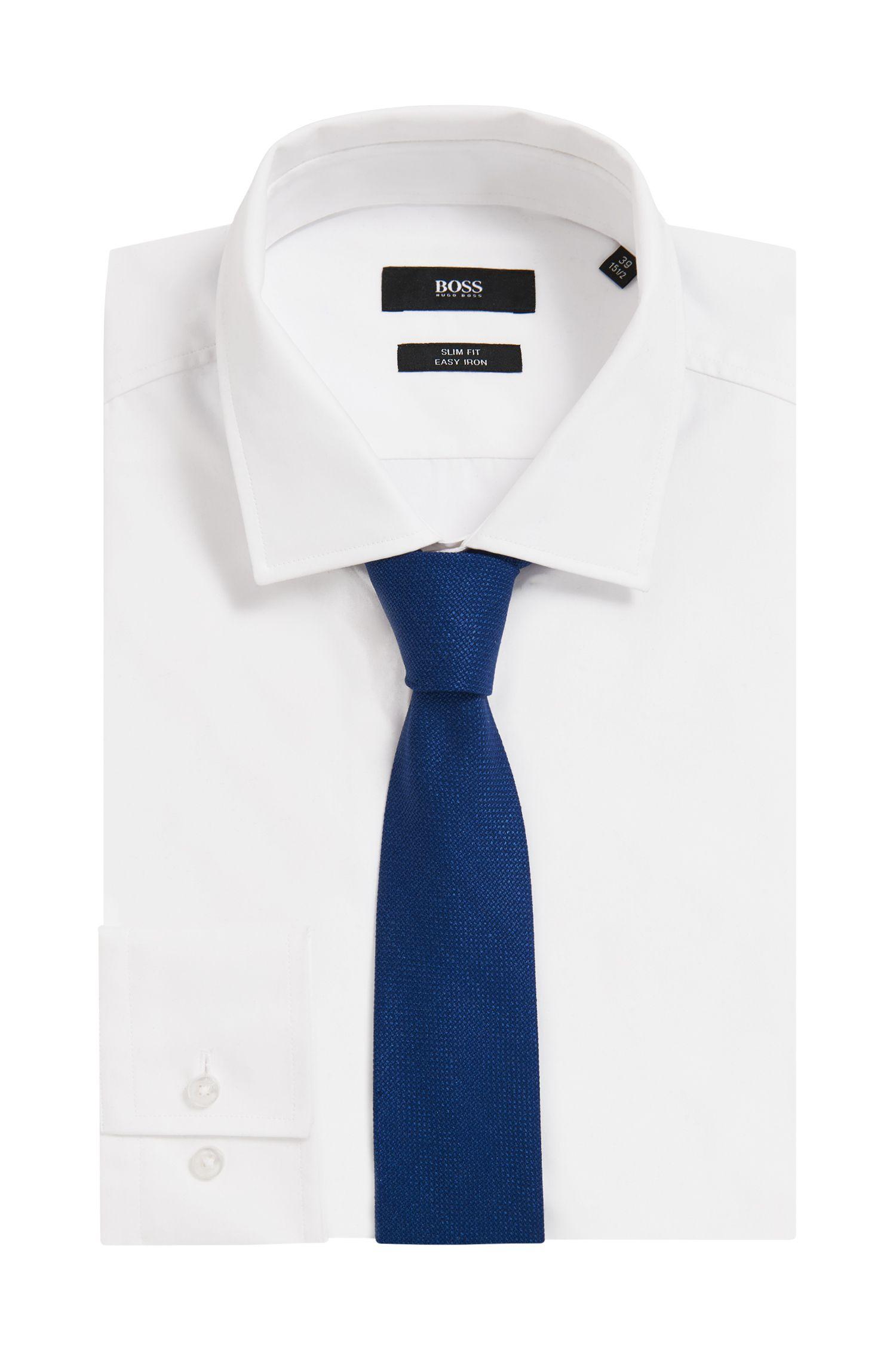 Italian-made tie in a virgin-wool blend, Open Blue