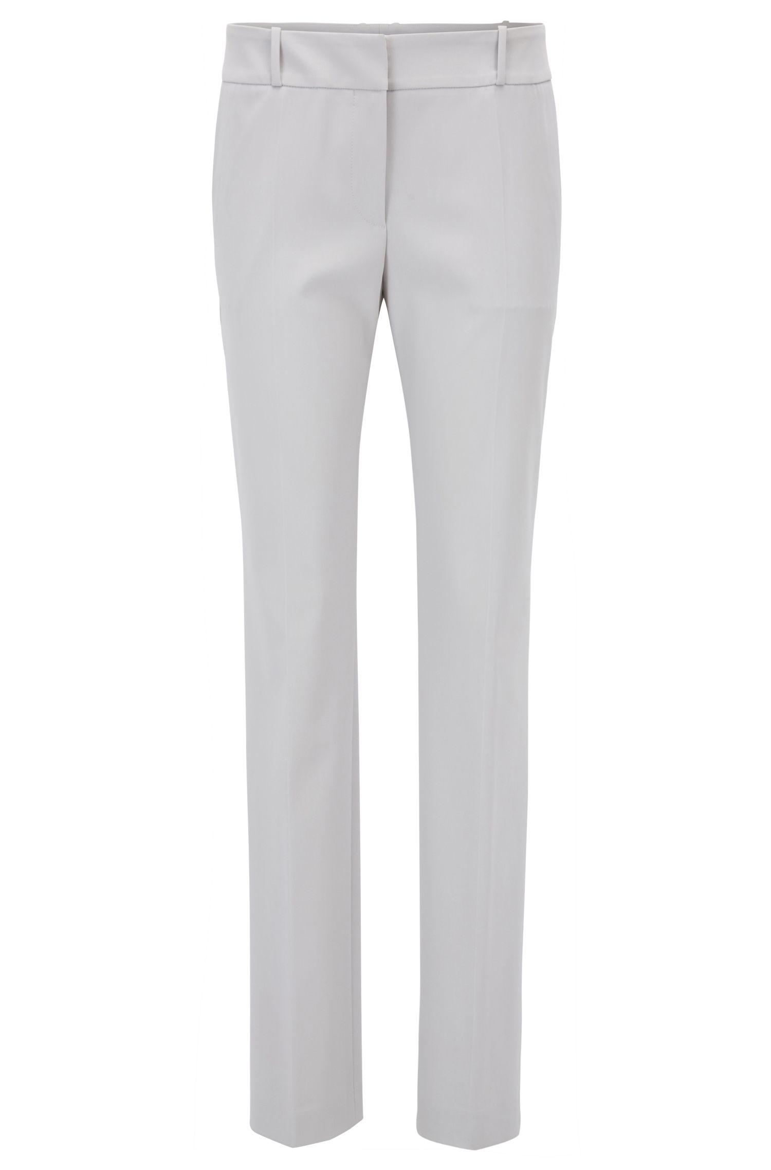 Regular-fit pants in a stretch virgin-wool blend, Silver