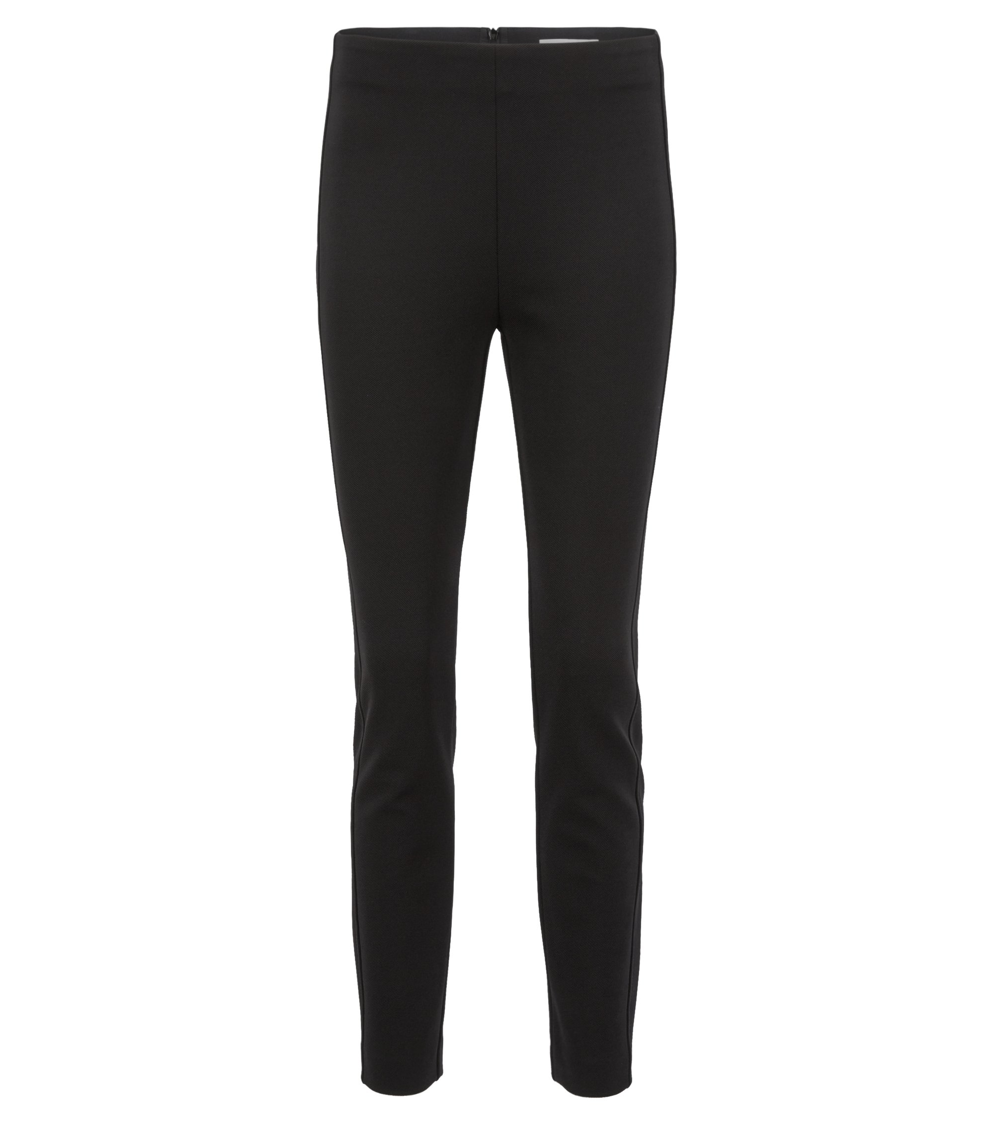 Slim-fit pants in technical stretch twill, Black