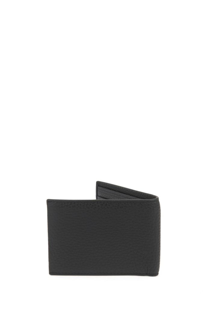Billfold wallet in grained Italian leather