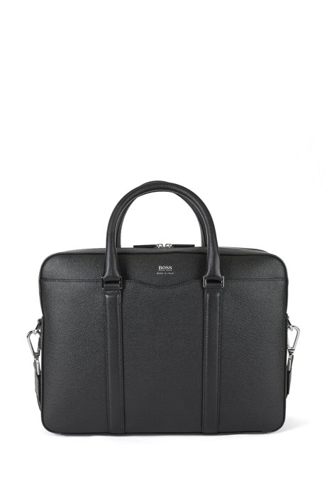 Signature Collection document case in Italian calf leather, Black
