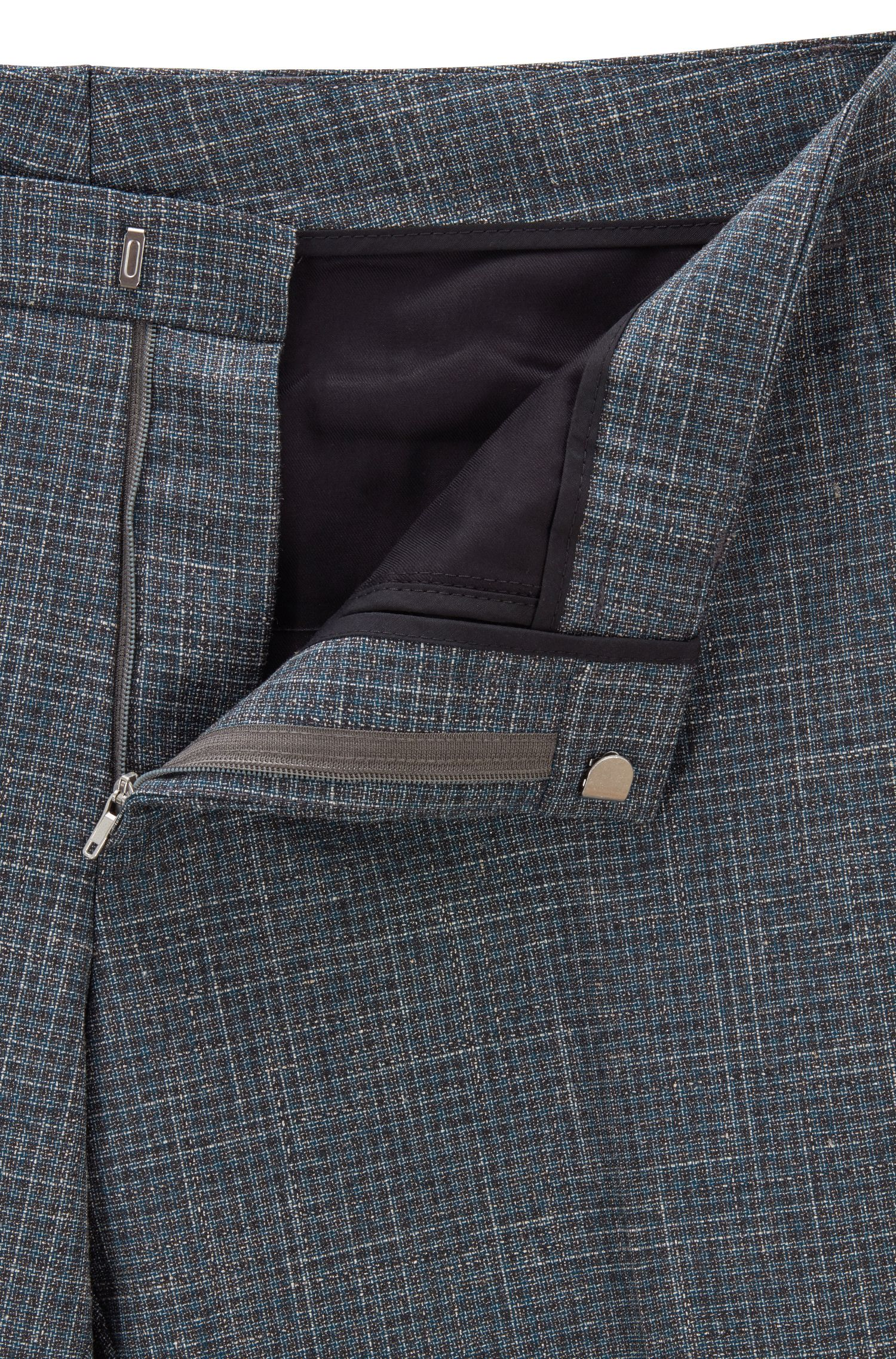Extra-slim-fit wool-blend suit without stitching, Dark Green