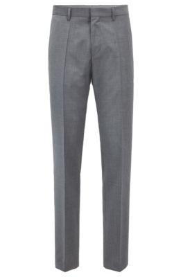 Slim Fit Pants In Virgin Wool With Tape Details by Boss