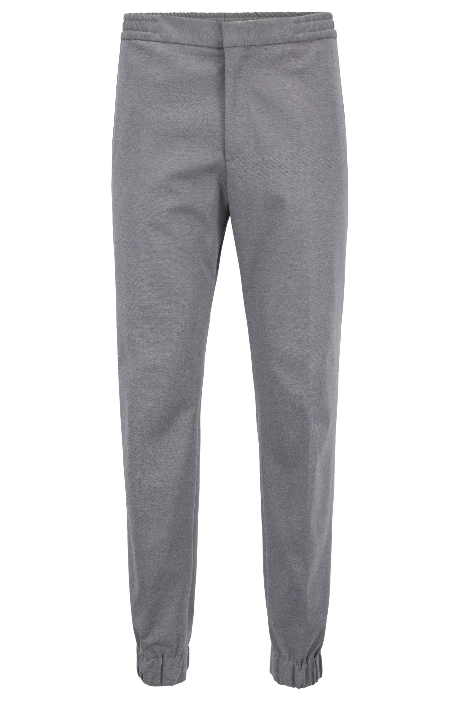 Slim-fit tailored pants with cuffed hems, Grey