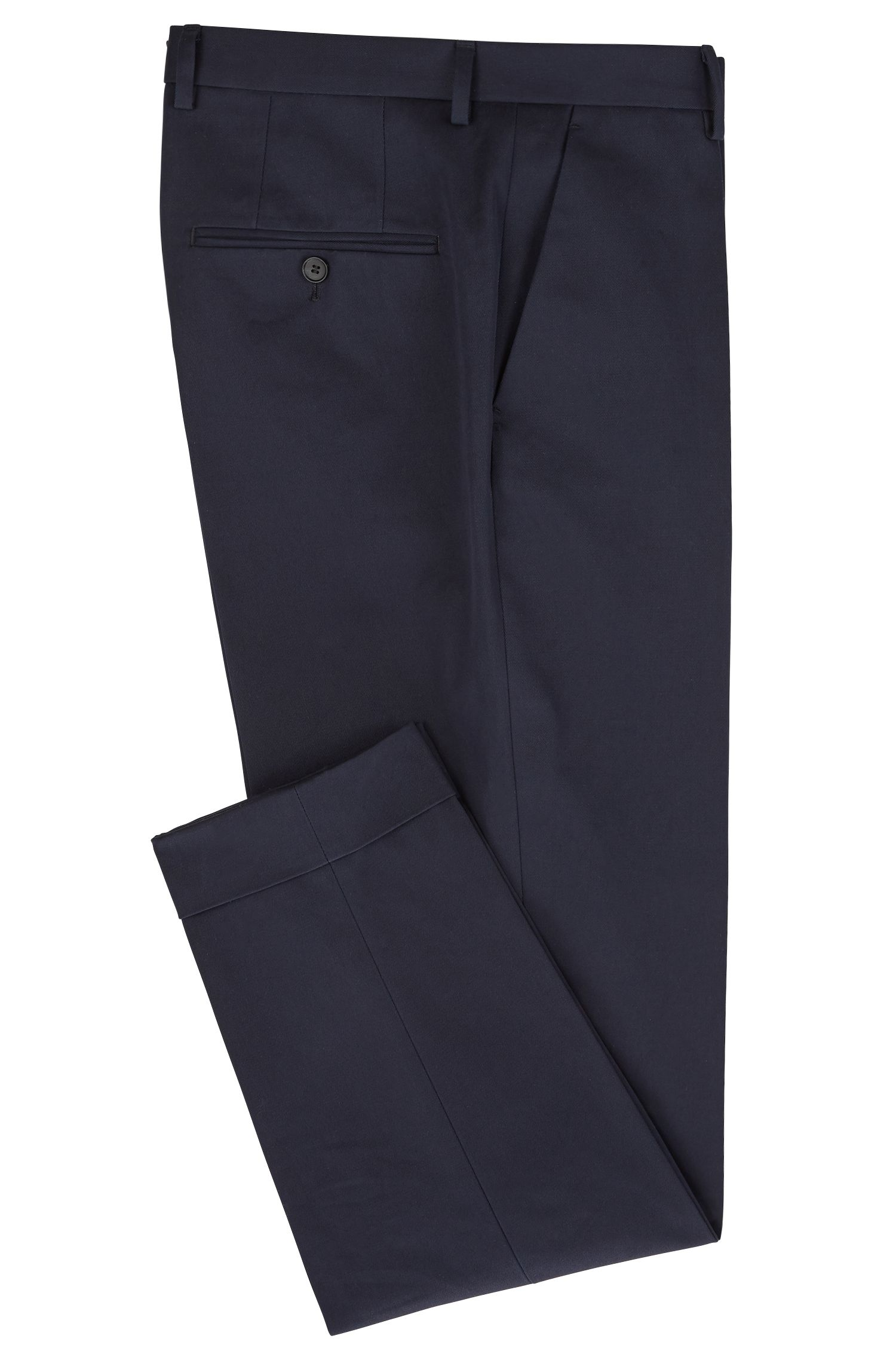 Relaxed-fit pants in cotton with cropped length , Open Blue