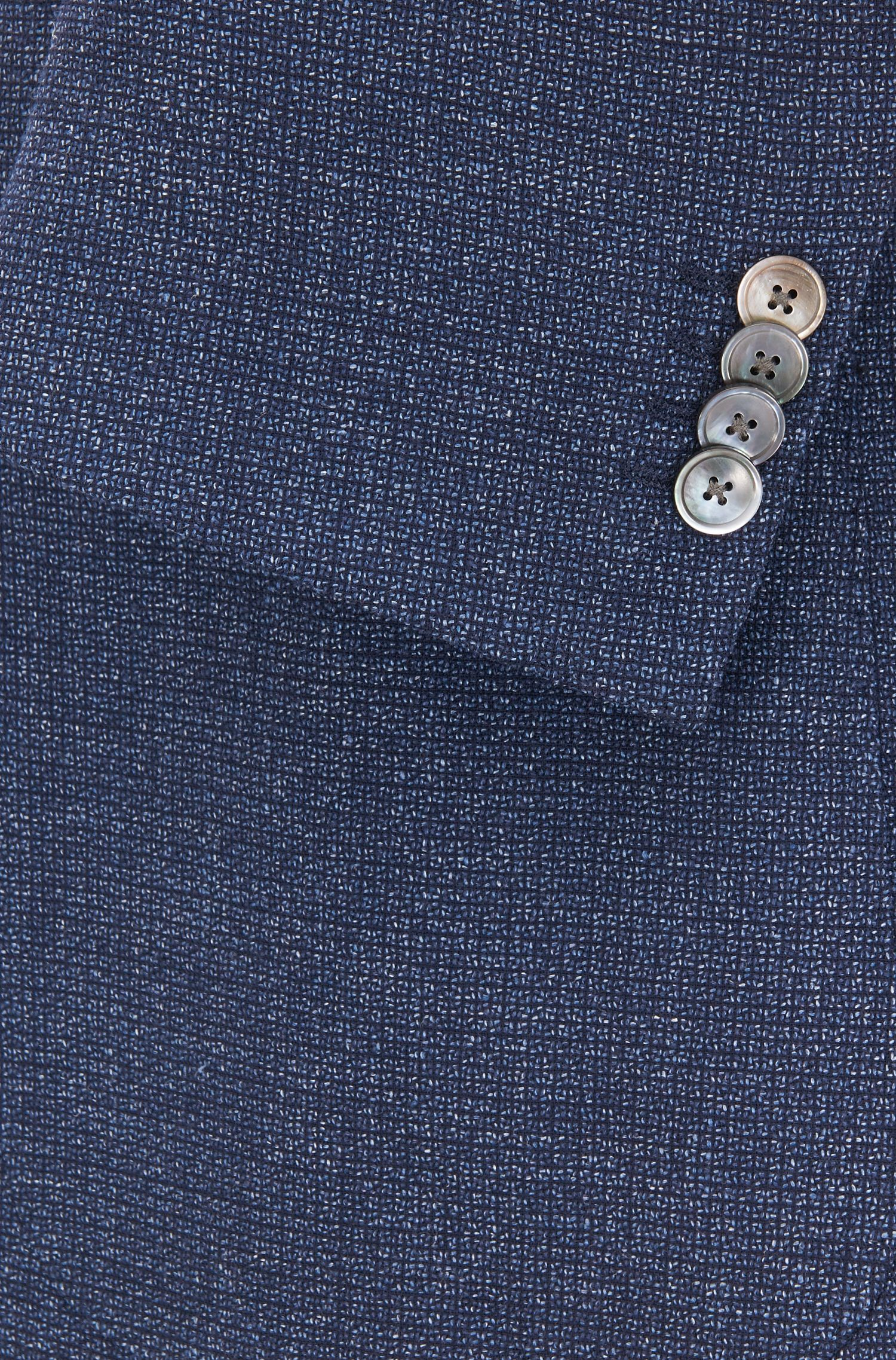 Regular-fit jacket with mother-of-pearl buttons