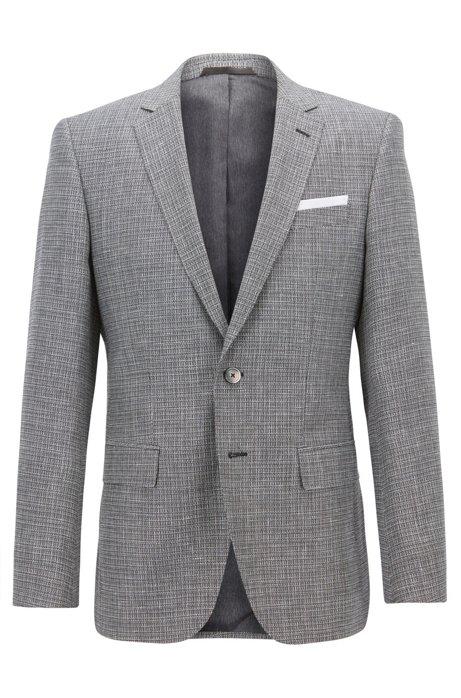 b49c0fd7f3 BOSS - Slim-fit blazer with foldable pocket square
